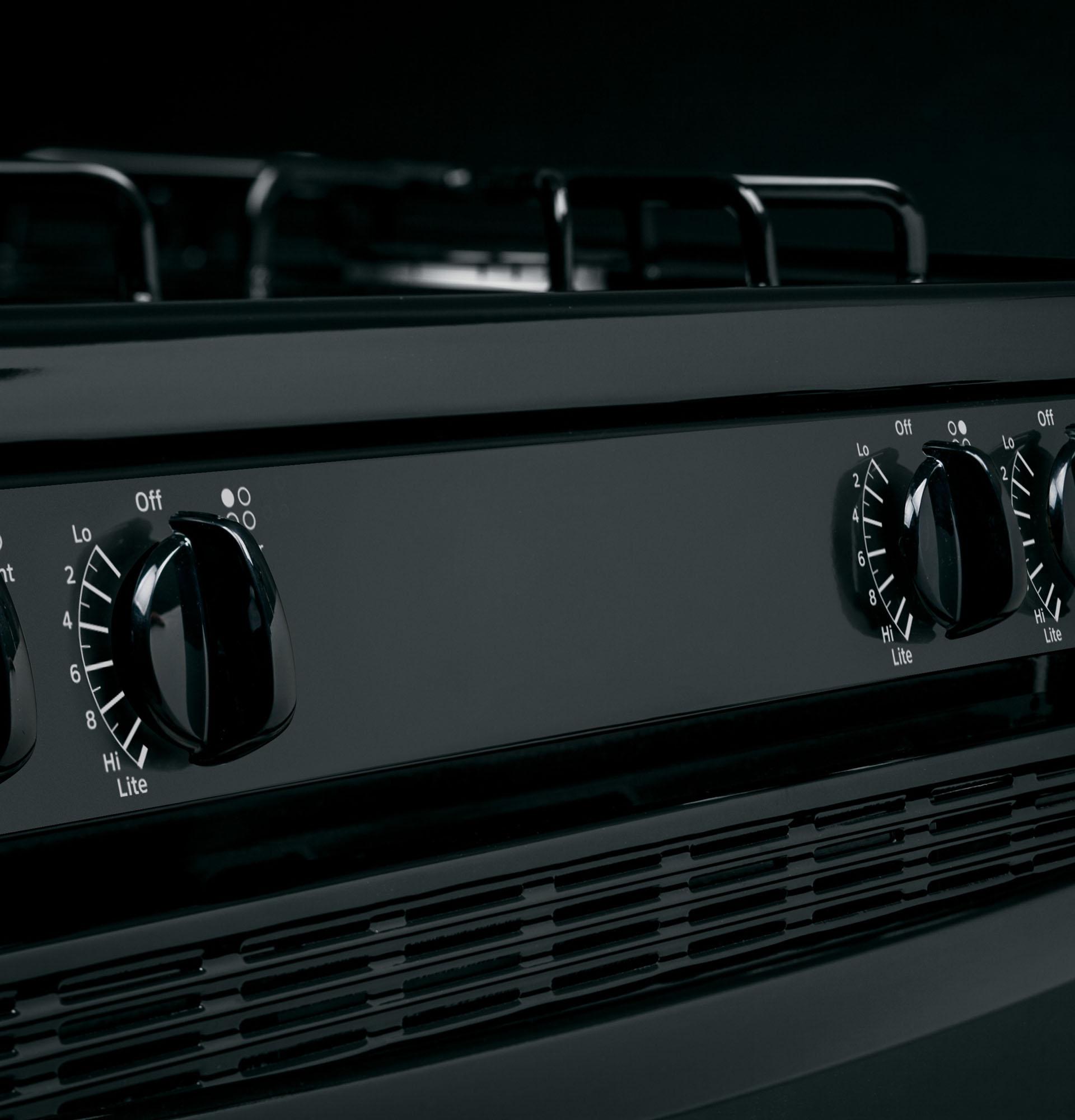 Hotpoint RGB530DEHBB 4.8 cu. ft. Freestanding Gas Range - Black