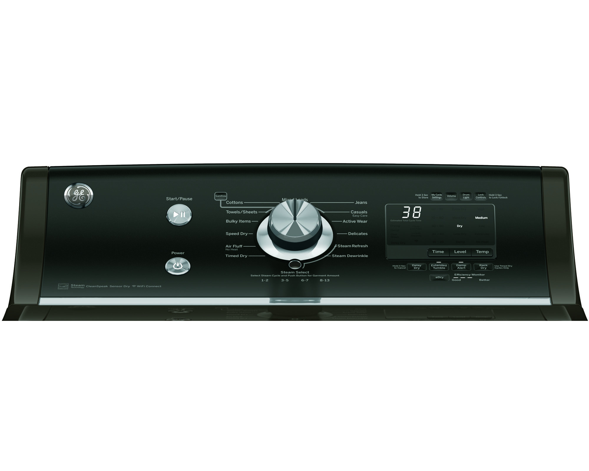 GE Appliances GTD86ESPJMC 7.8 cu. ft. Electric Dryer - Metallic