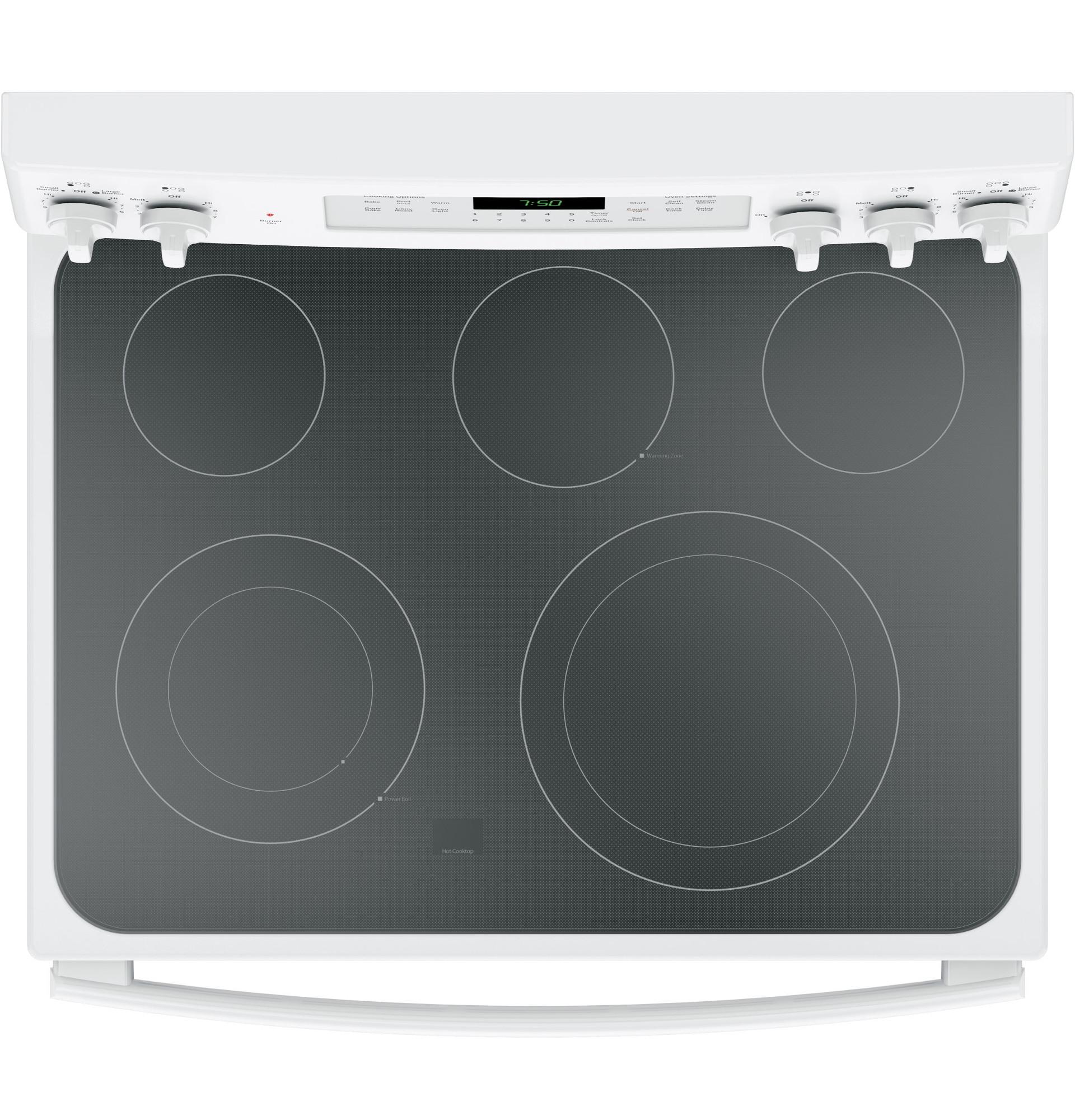 GE Appliances JB750DJWW 5.3 cu. ft. Freestanding Electric Range w/ True Convection - White
