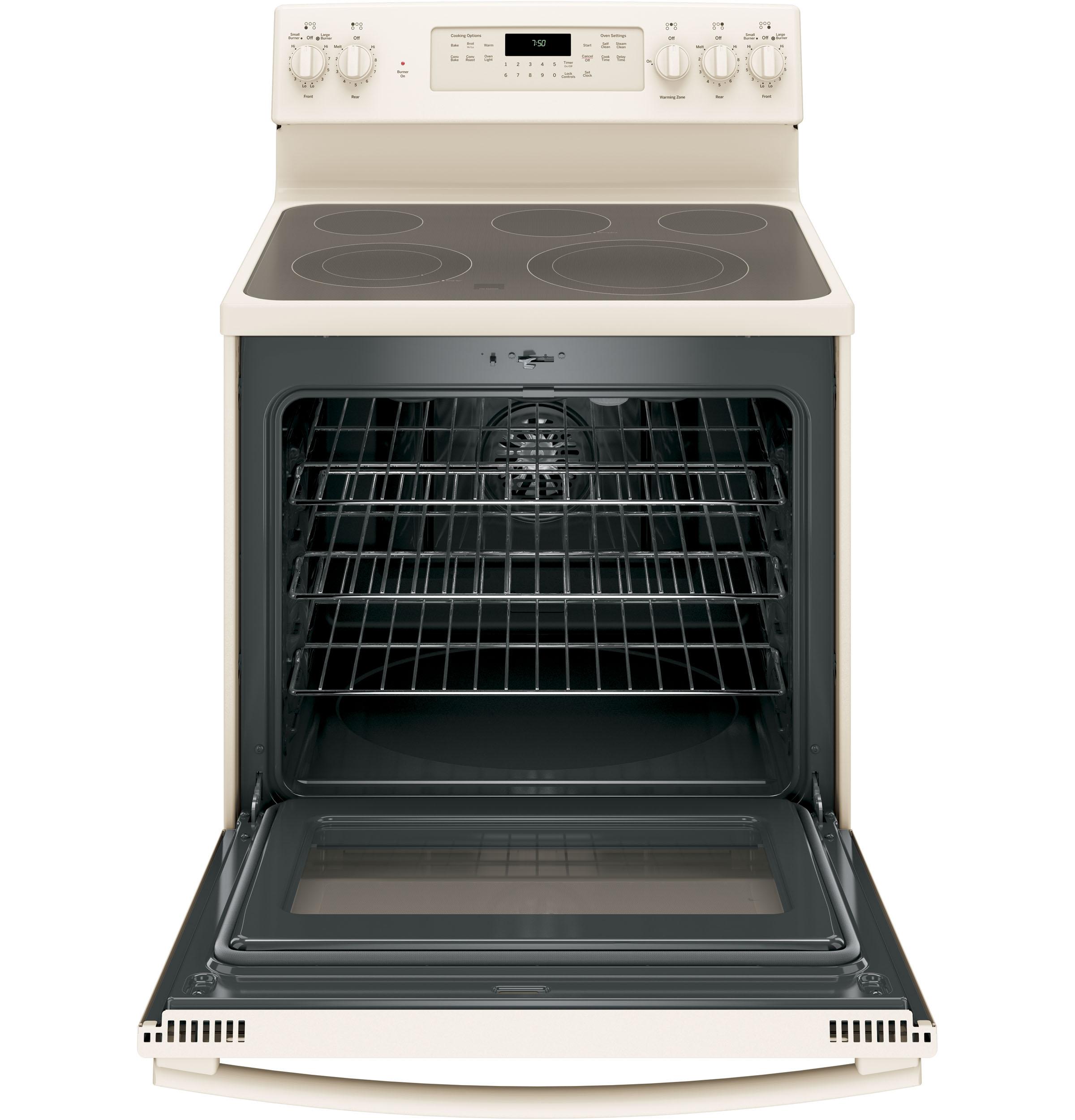 GE Appliances JB750DJCC 5.3 cu. ft. Freestanding Electric Range w/ True Convection - Bisque