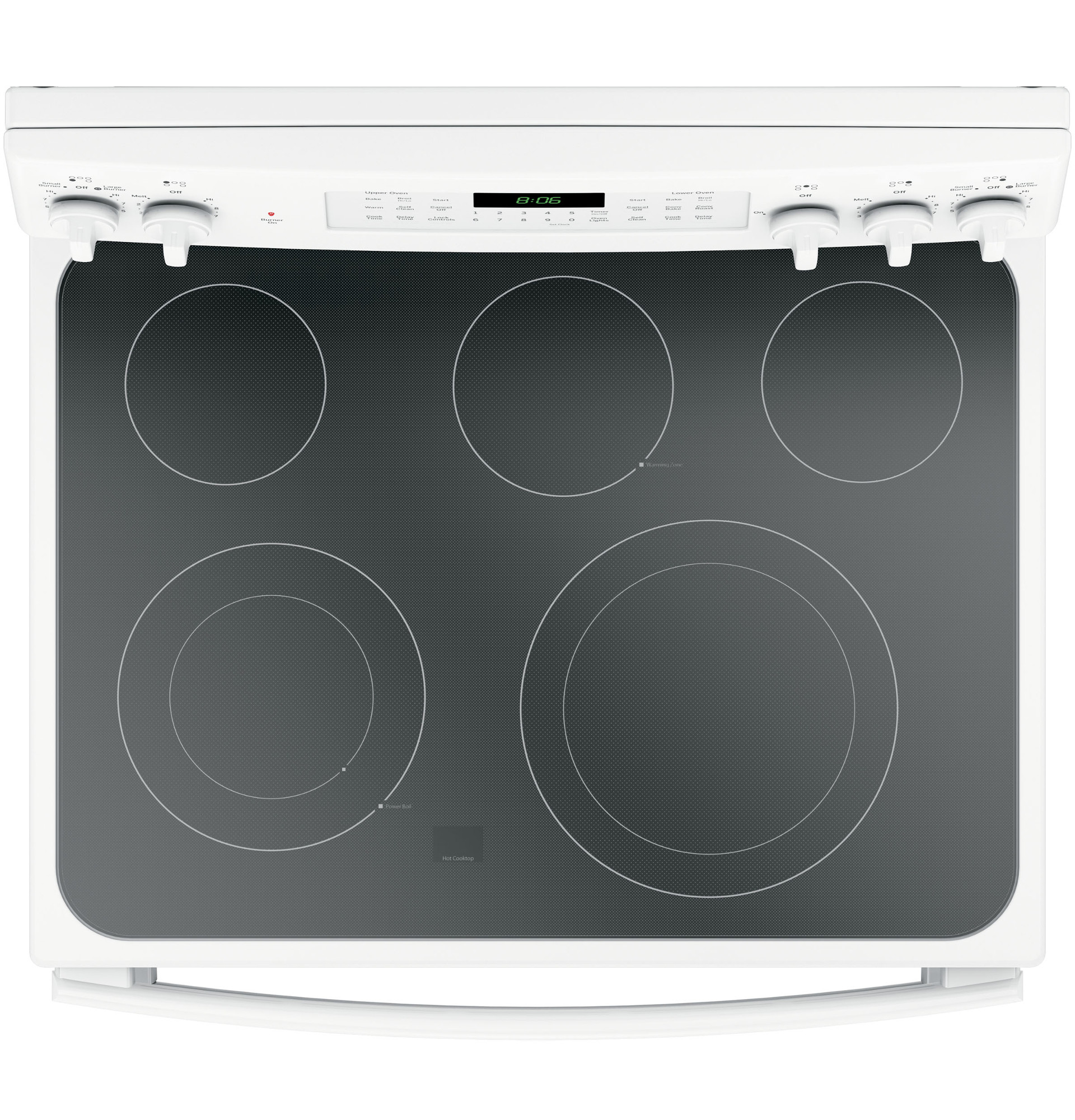 GE Appliances JB860DJWW 6.6 cu. ft. Freestanding Electric Double Oven Convection Range - White
