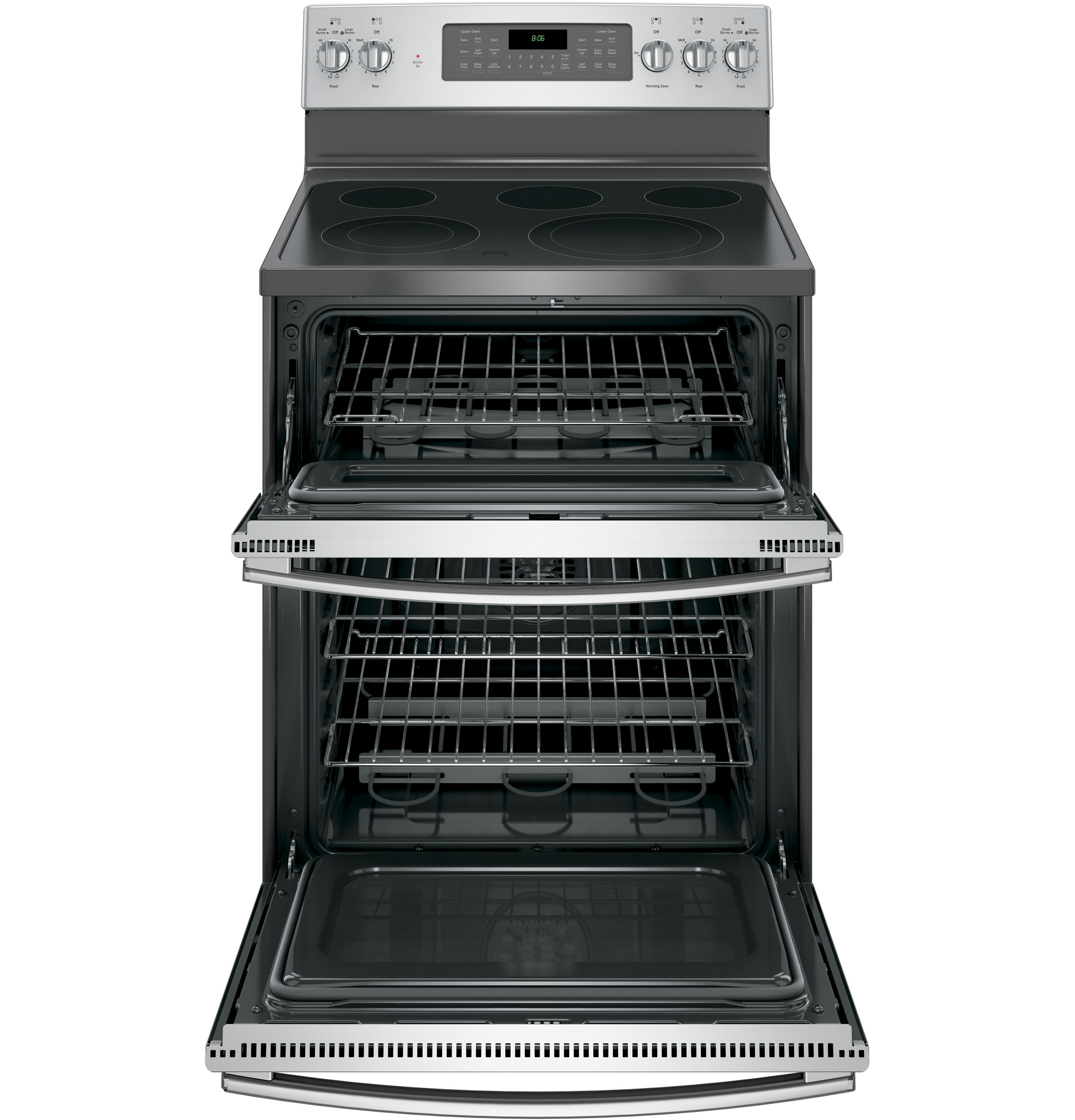 GE Appliances JB860SJSS 6.6 cu. ft. Freestanding Electric Double Oven Convection Range - Stainless Steel