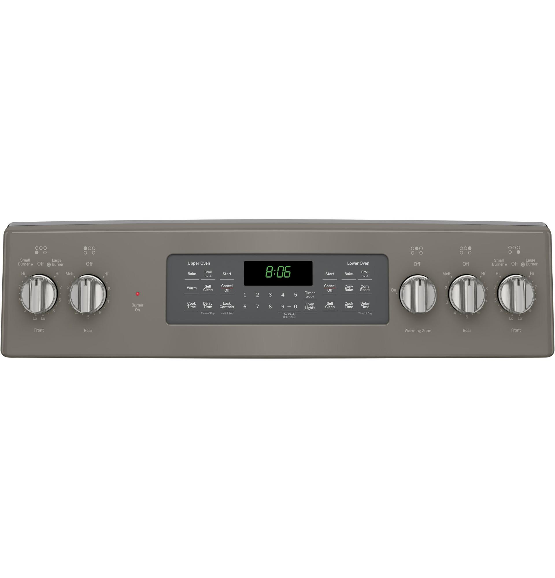 GE Appliances JB860EJES 6.6 cu. ft. Freestanding Electric Double Oven Convection Range - Slate