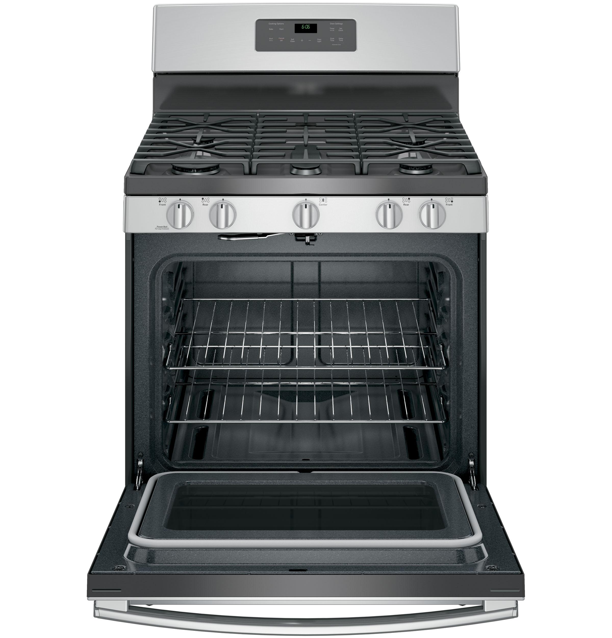GE Appliances JGB660SEJSS 5.0 cu .ft. Freestanding Gas Range - Stainless Steel