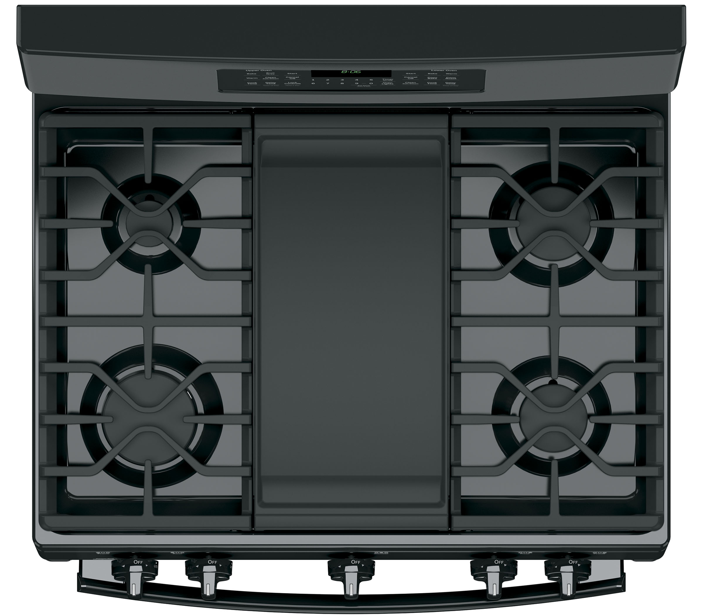 GE Appliances JGB860DEJBB 6.8 cu. ft. Freestanding Gas Double Oven Convection Range - Stainless Steel - Black
