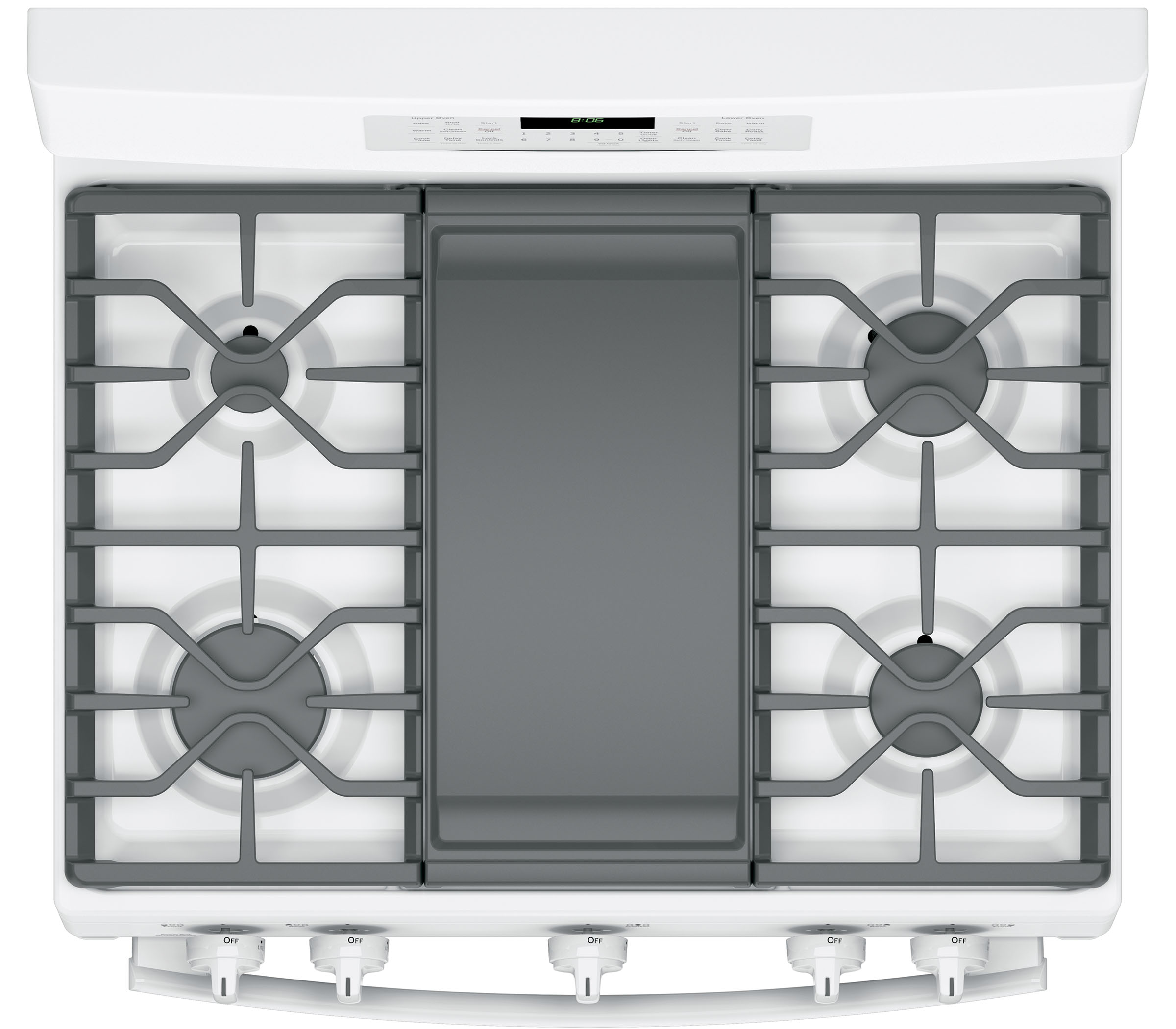 GE Appliances JGB860DEJWW 6.8 cu. ft. Freestanding Gas Double Oven Convection Range - Stainless Steel - White