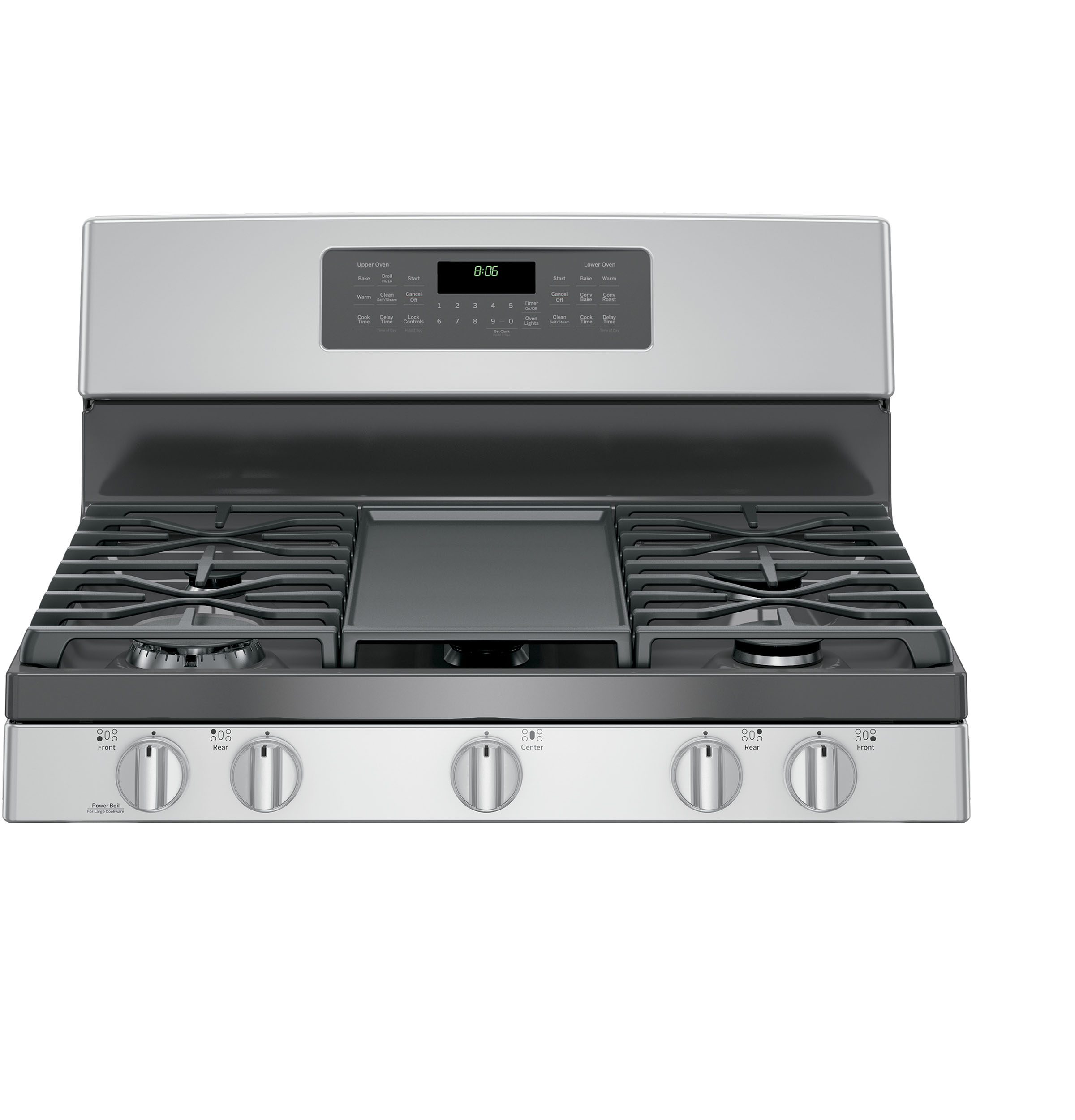 GE Appliances JGB860SEJSS 6.8 cu. ft. Freestanding Gas Double Oven Convection Range - Stainless Steel