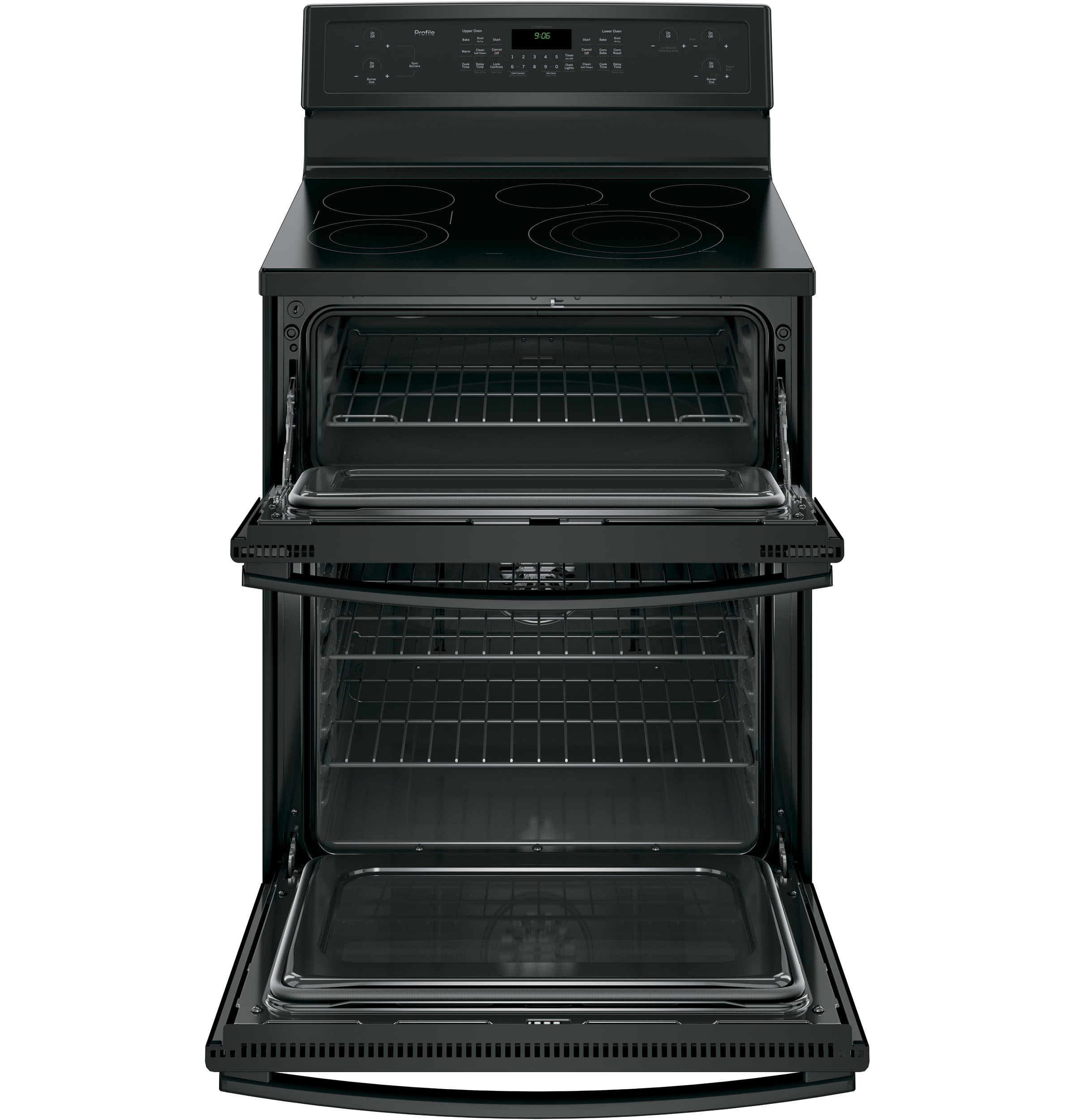 GE Profile PB960DJBB 6.6 cu. ft. Electric Range w/ Double Convection Oven - Black