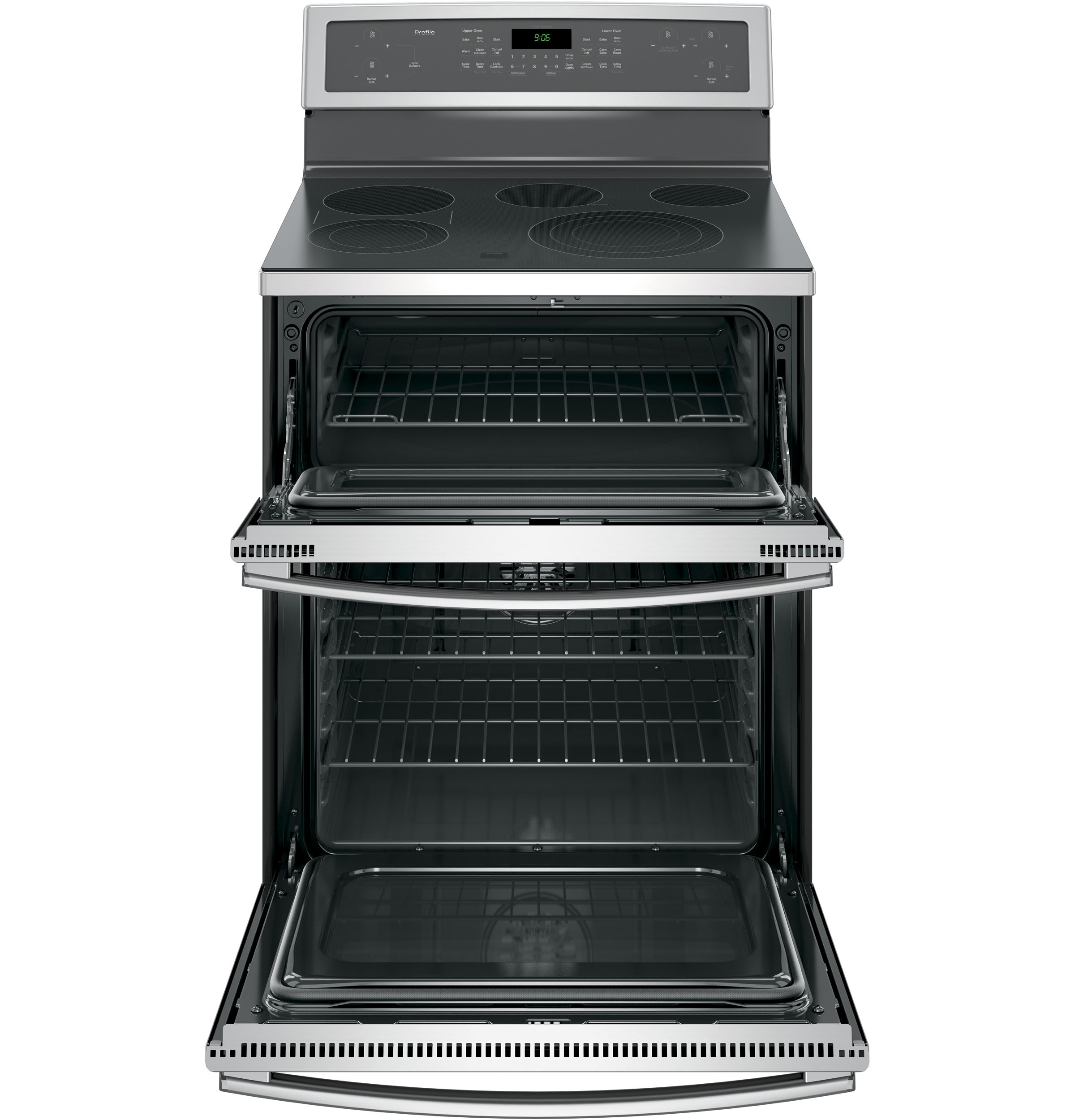 GE Profile PB960SJSS 6.6 cu. ft. Electric Range w/ Double Convection Oven - Stainless Steel