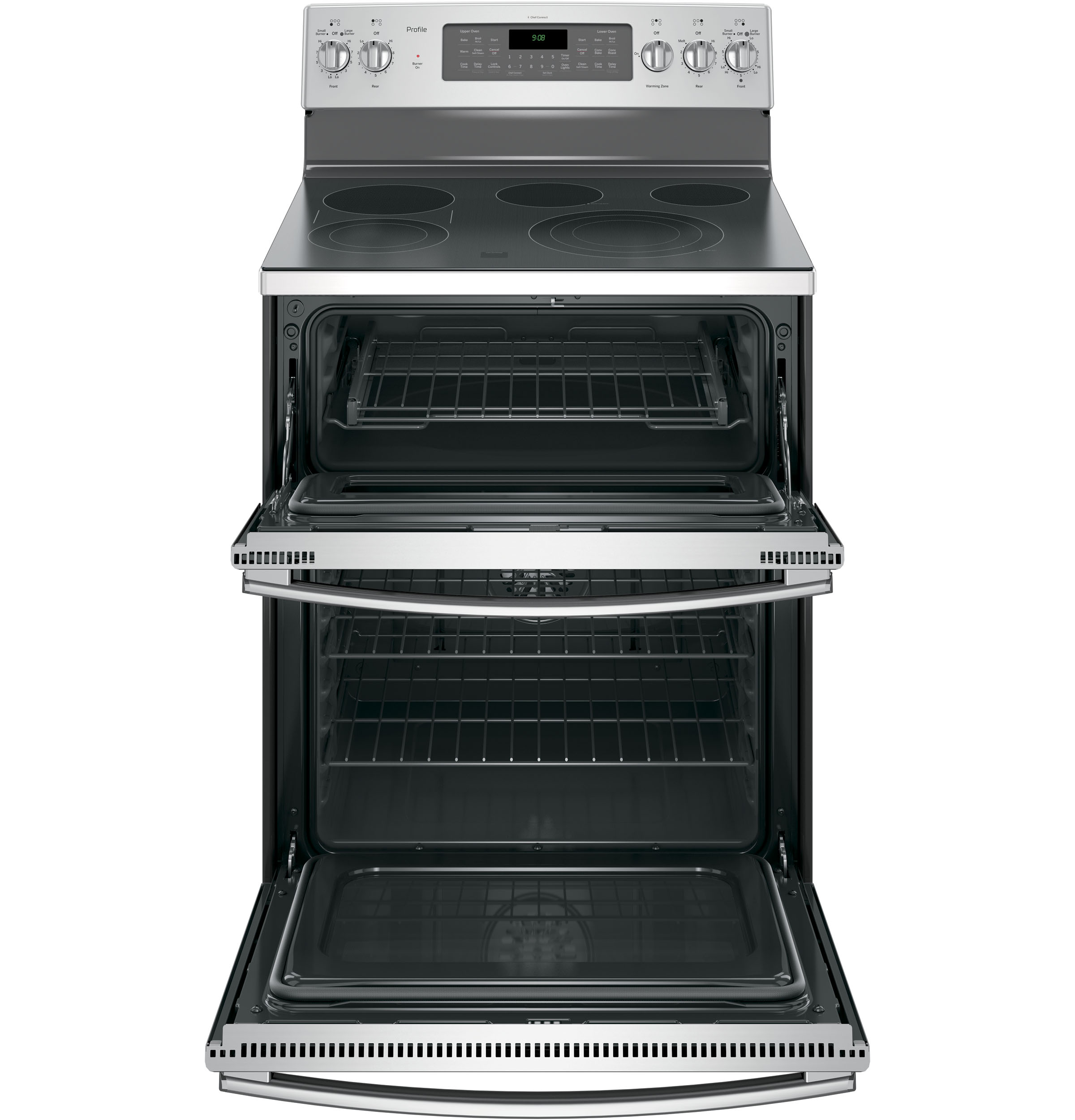 GE Profile PB980SJSS 6.6 cu. ft. Electric Range w/ Double Convection Oven - Stainless Steel
