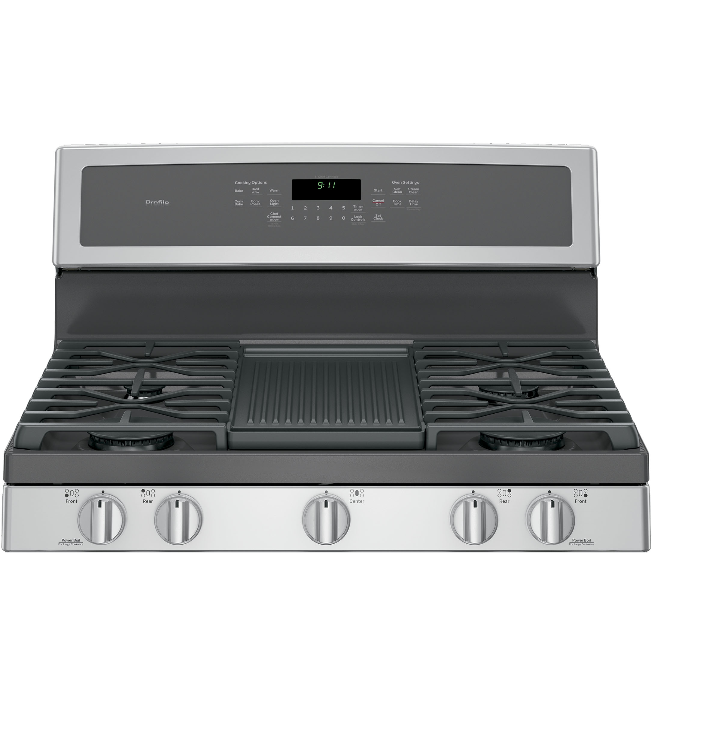 GE Profile PGB911SEJSS 5.6 cu .ft. Freestanding Gas Convection Range - Stainless Steel