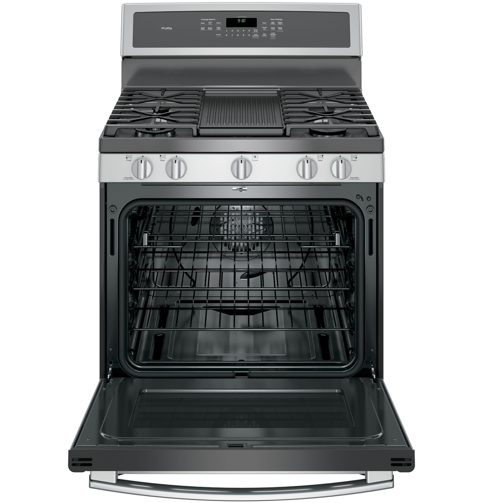 GE Profile PGB930SEJSS 5.6 cu. ft. Freestanding Gas Convection Range - Stainless Steel