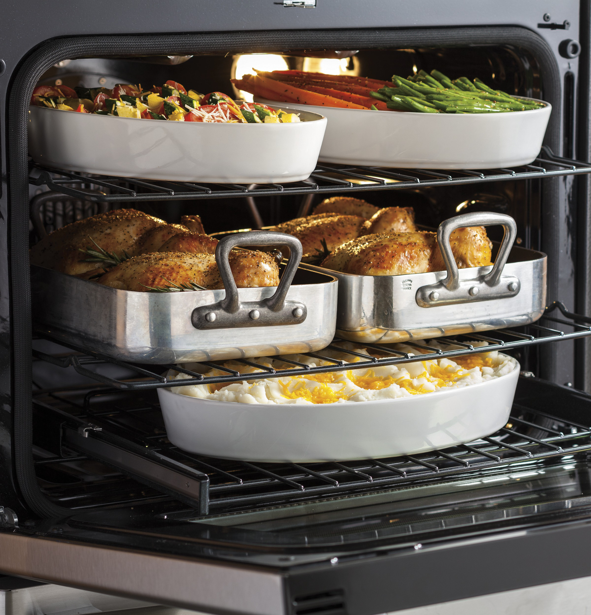 GE Profile PGB940SEJSS 5.6 cu. ft. Freestanding Gas Convection Range - Stainless Steel