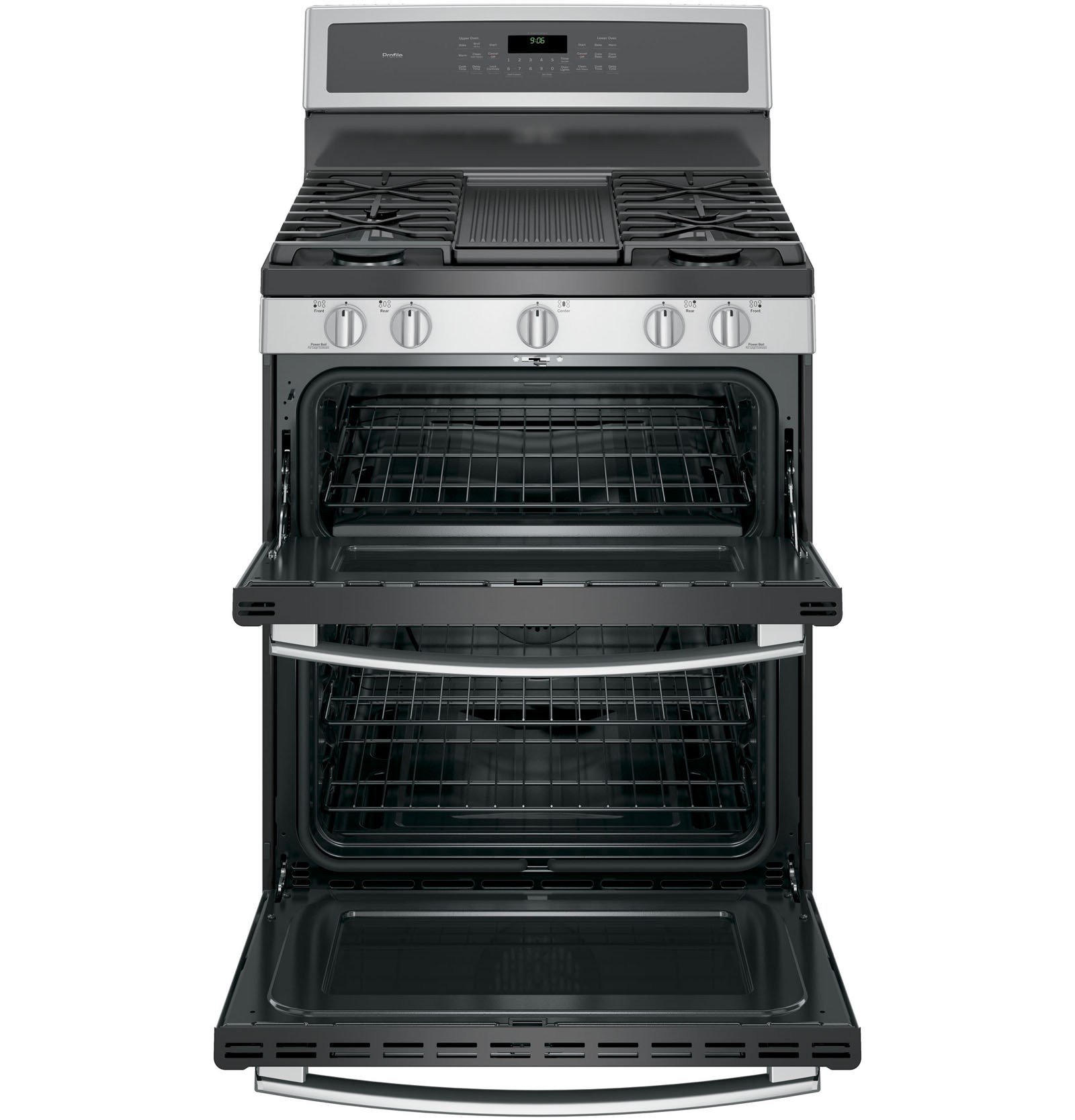 GE Profile PGB960SEJSS 6.8 cu. ft. Freestanding Range w/ Double Convection Oven - Stainless Steel