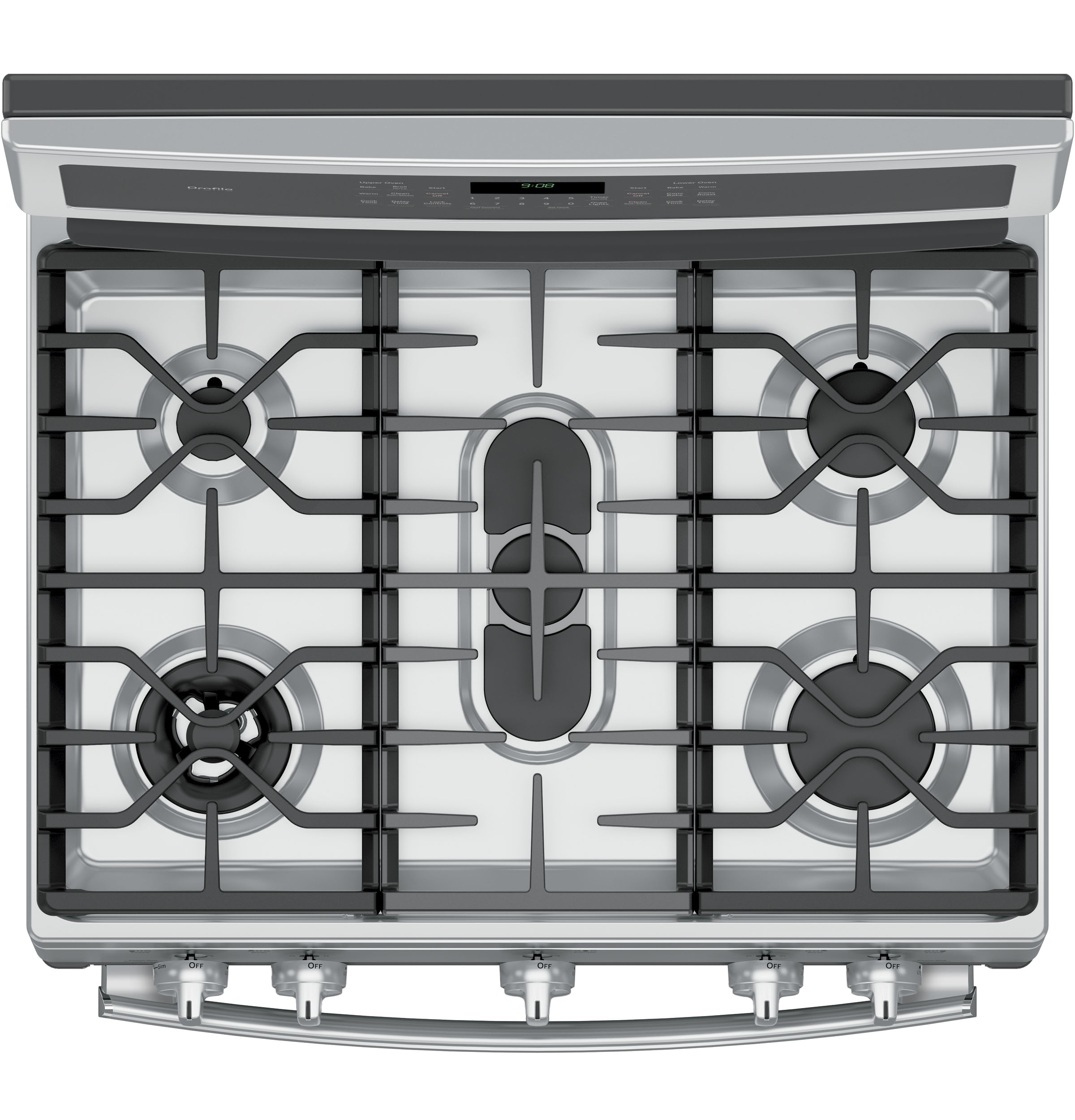 GE Profile PGB980ZEJSS 6.8 cu. ft. Freestanding Gas Range w/ Double Convection Oven - Stainless Steel