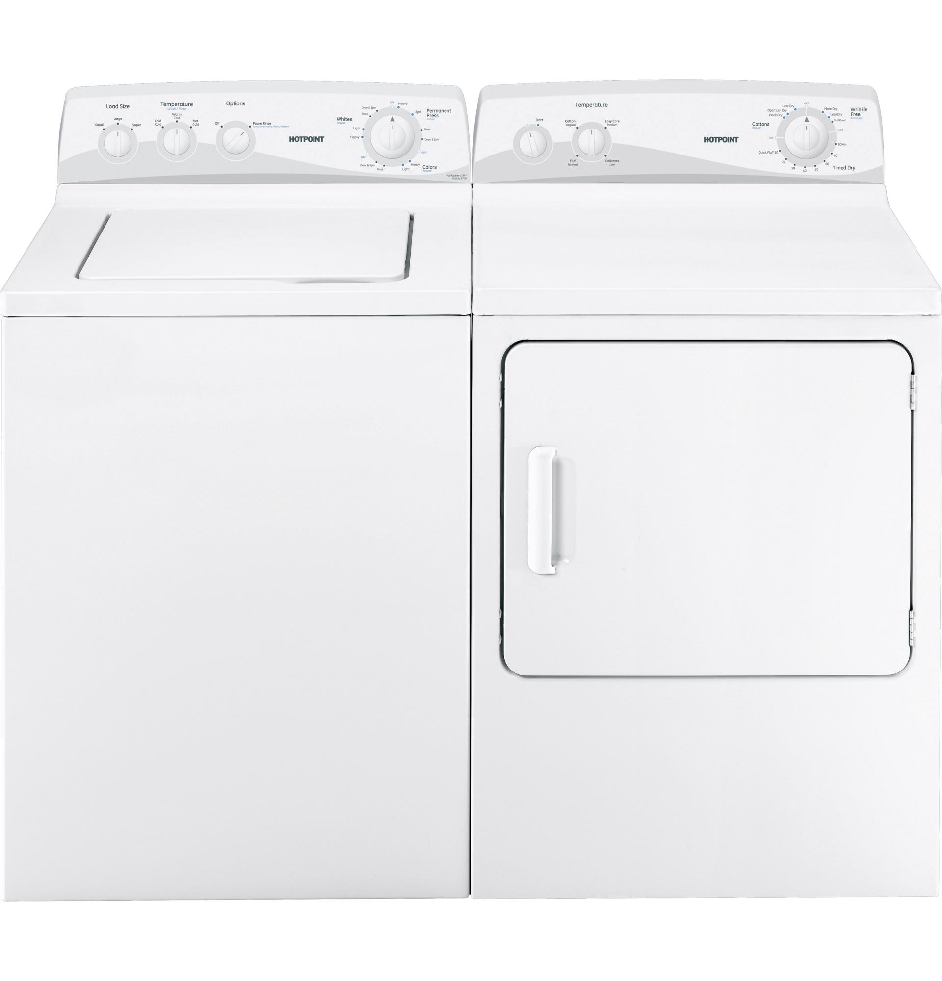 Hotpoint HTDP120EDWW 6.8 cu. ft. Dura Drum Electric Dryer - White