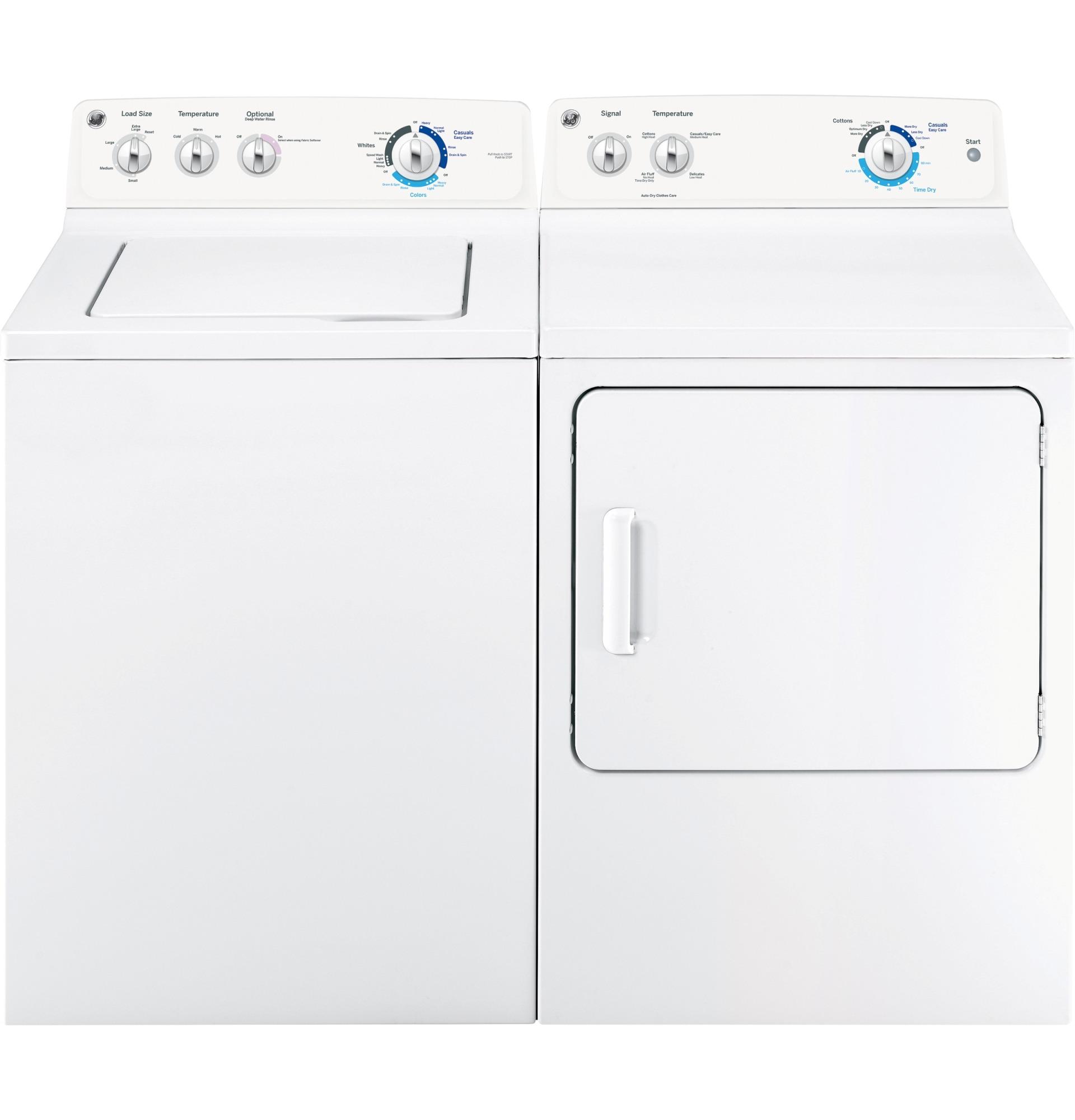 GE Appliances GTX18GSSJWW 6.0 cu. ft. Dura Drum Gas Dryer - White
