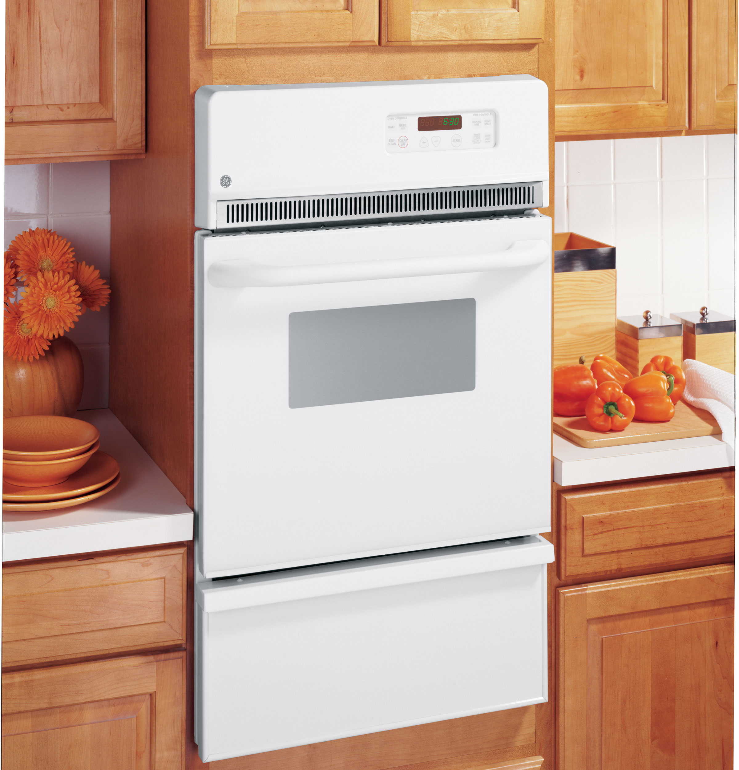 "GE Appliances JGRP20WEJWW 24"" Self-Clean Gas Wall Oven JGRP20"