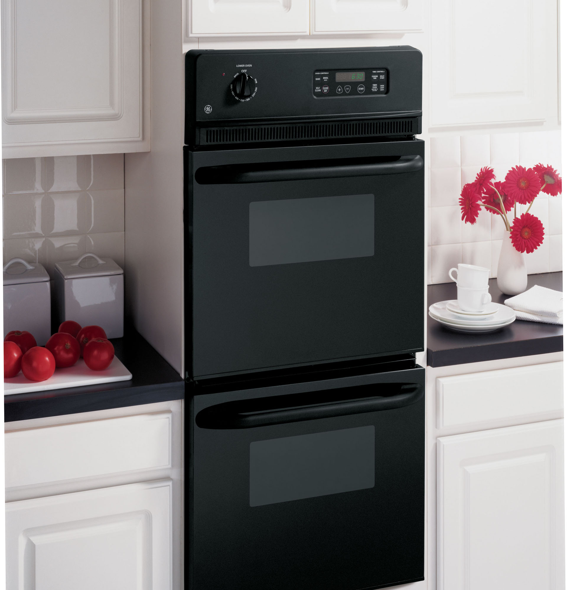 """GE Appliances JRP28BJBB 24"""" Self-Clean Double Electric Wall Oven"""
