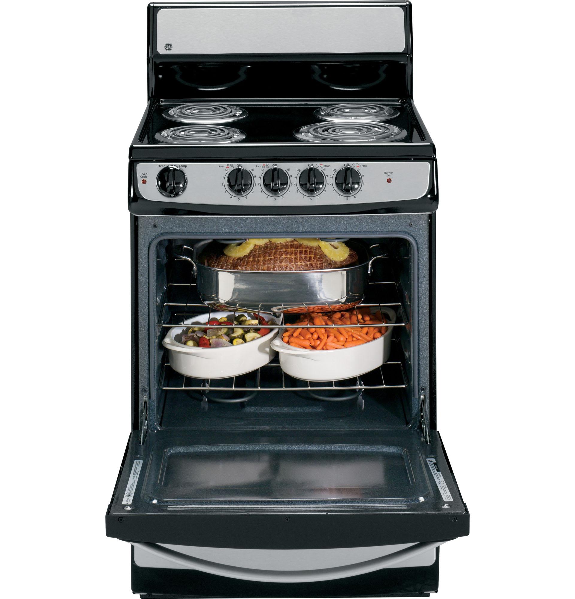 """GE Appliances JAS02SNSS 3 cu. ft. 24"""" Electric Range"""