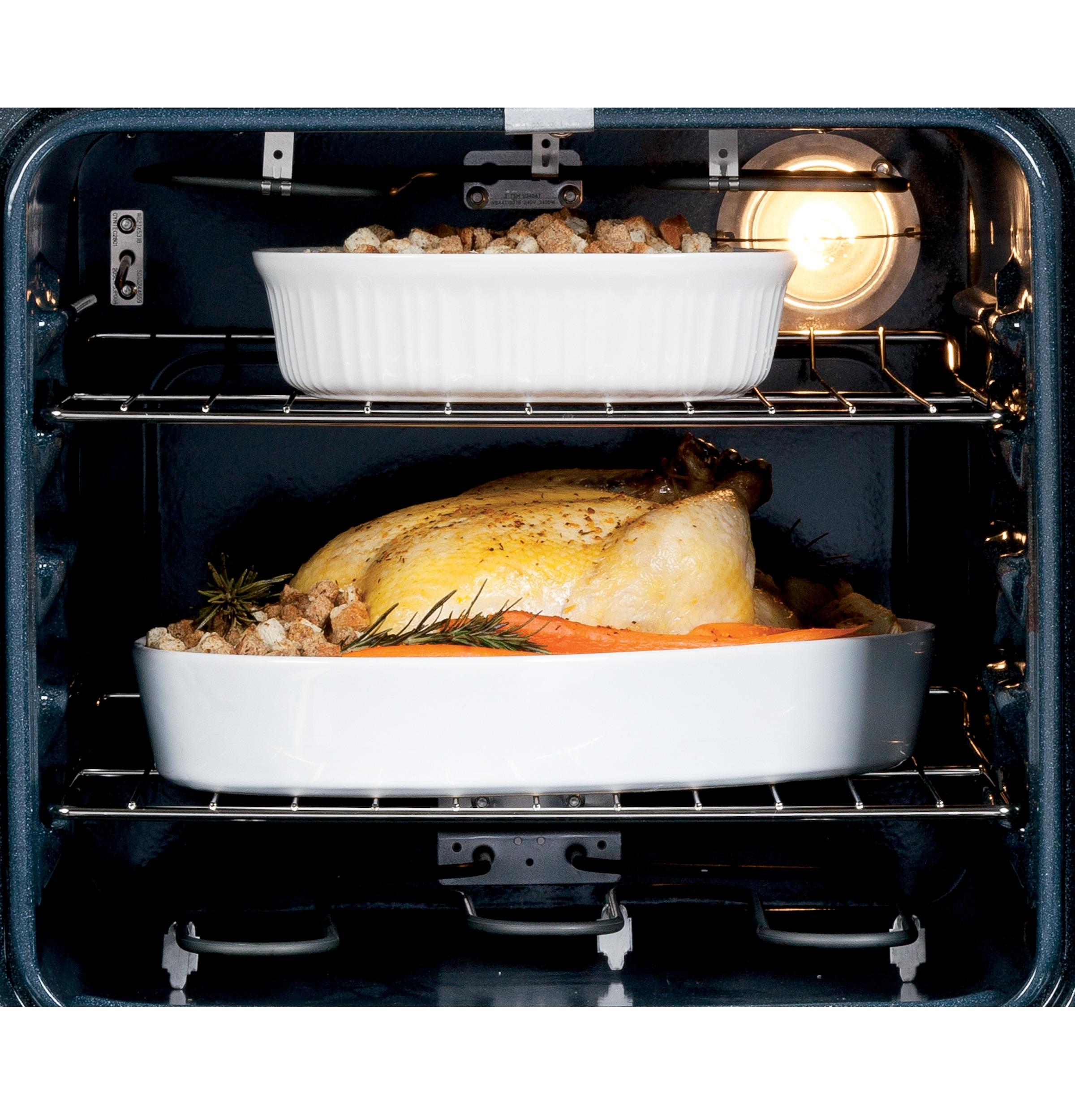 "GE Appliances JRP20BJBB 24"" Single Self-Clean Electric Wall Oven"