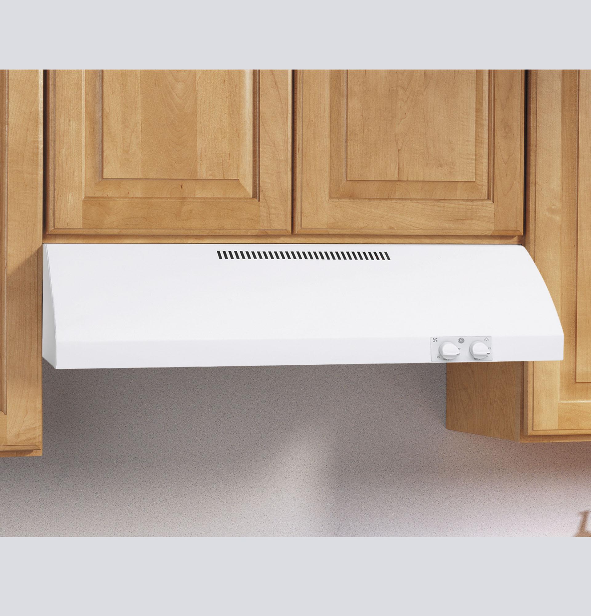 """GE Appliances JV247PWW 24"""" White Range Hood JV247P"""
