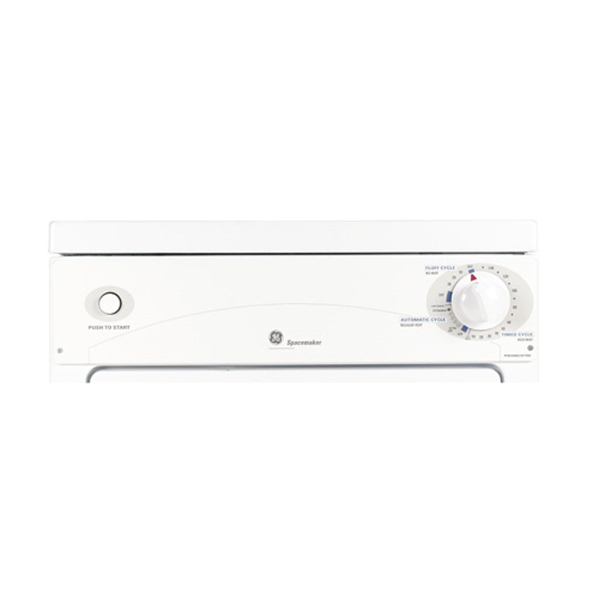 GE Appliances 3.6 cu. ft. White Electric Dryer