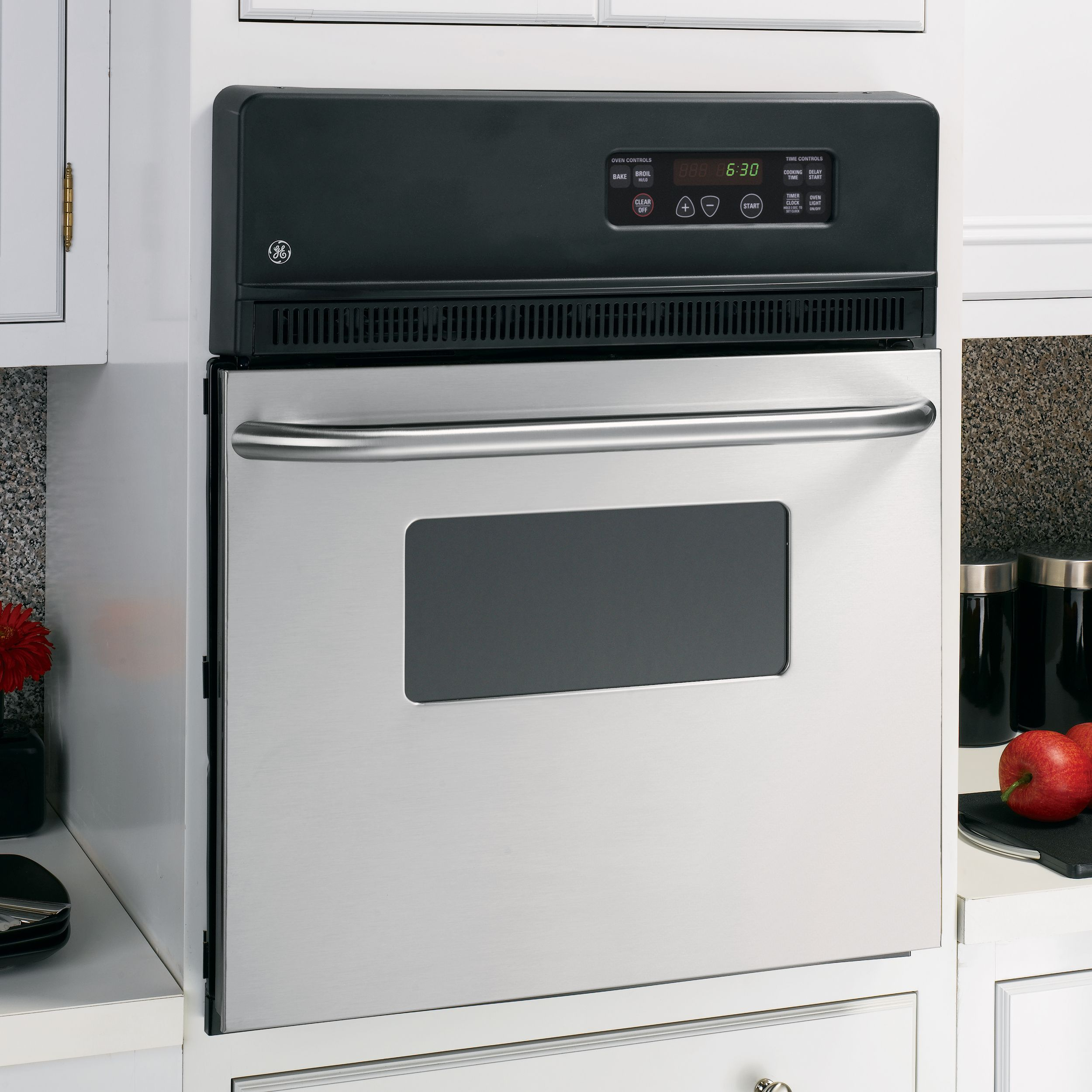 "GE Appliances JRS06SKSS 24"" Electric Single Standard Clean Wall Oven JRS06"