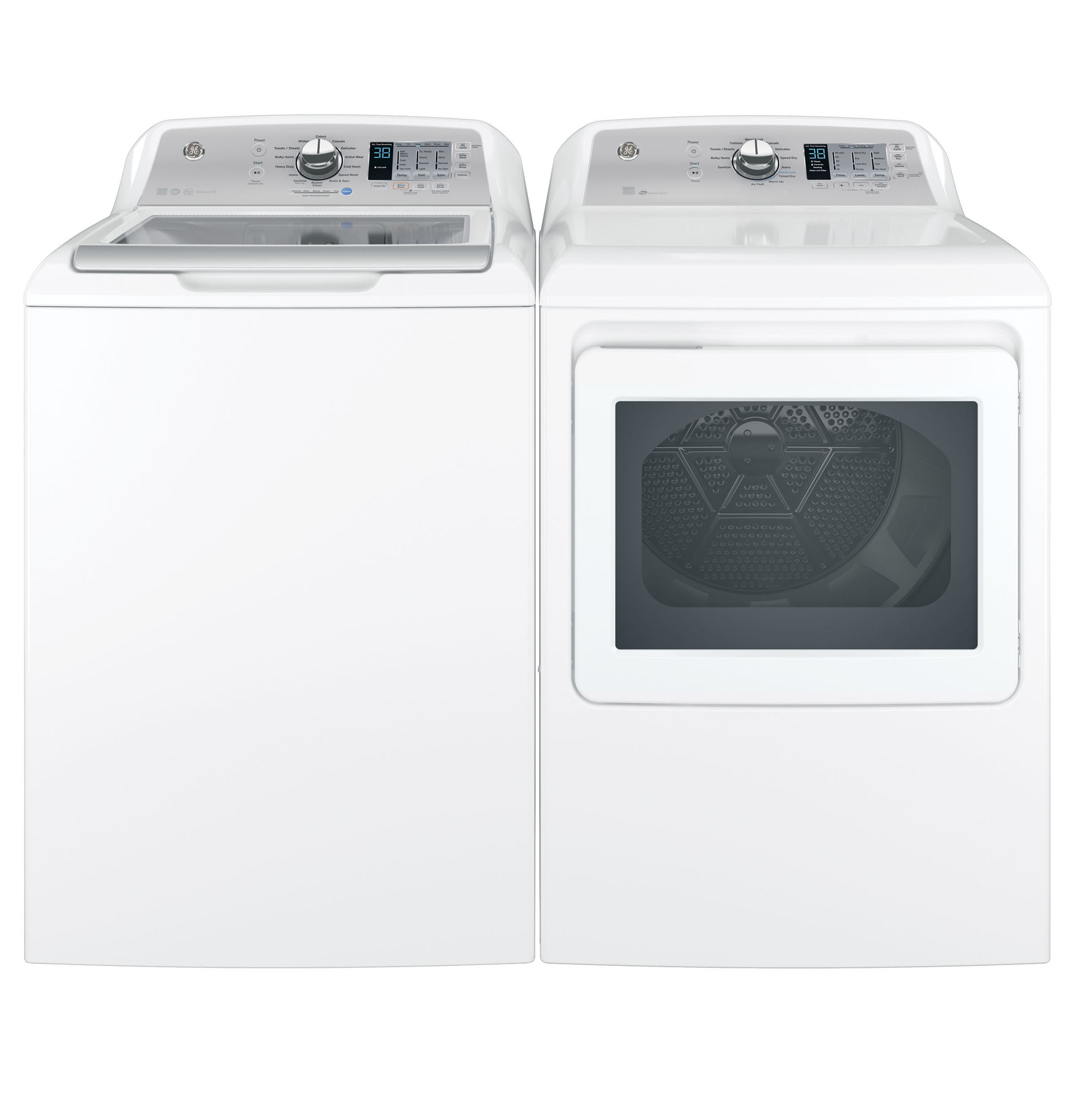 GE Appliances GTD65GBSJWS 7.4 cu. ft. Gas Dryer w/ Aluminized Alloy Drum - White