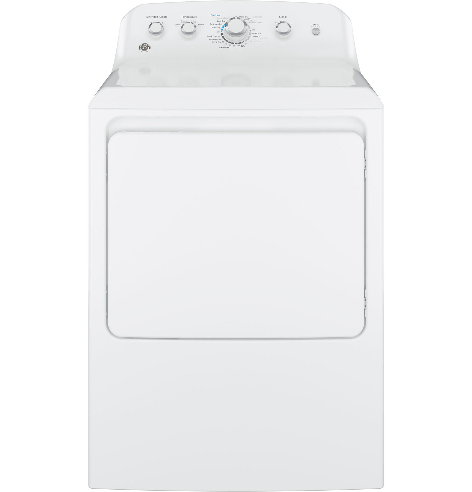 GE Appliances GTD42EASJWW 7.2 cu. ft. Electric Dryer w/ Aluminized Alloy Drum-White