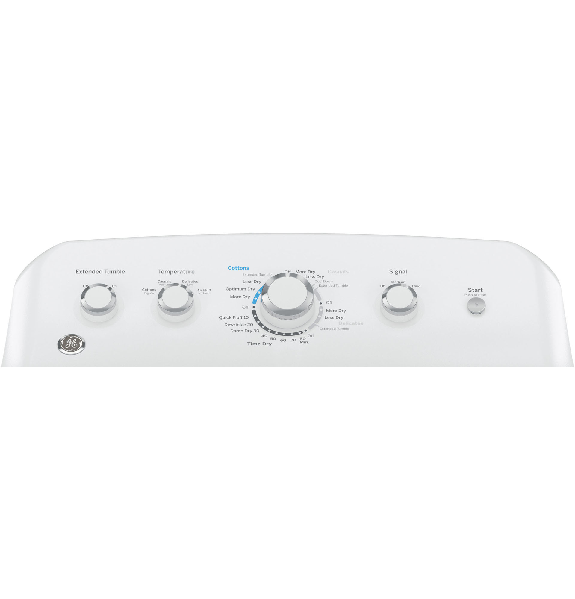 GE Appliances GTX42EASJWW 6.2 cu. ft. Electric Dryer w/ HE Sensor Dry - White