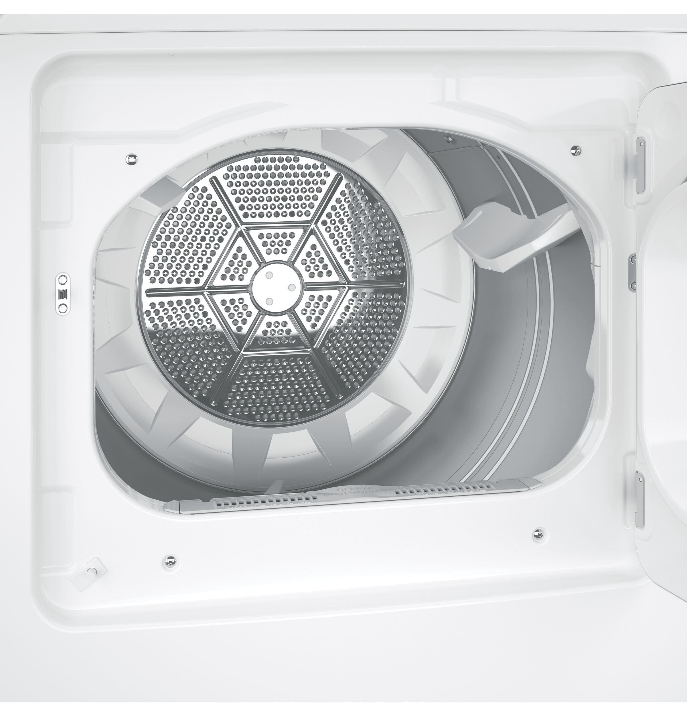 GE Appliances GTX65EBSJWS 6.1 cu. ft. Aluminized Alloy Drum Electric Dryer w/ HE Sensor Dry - White