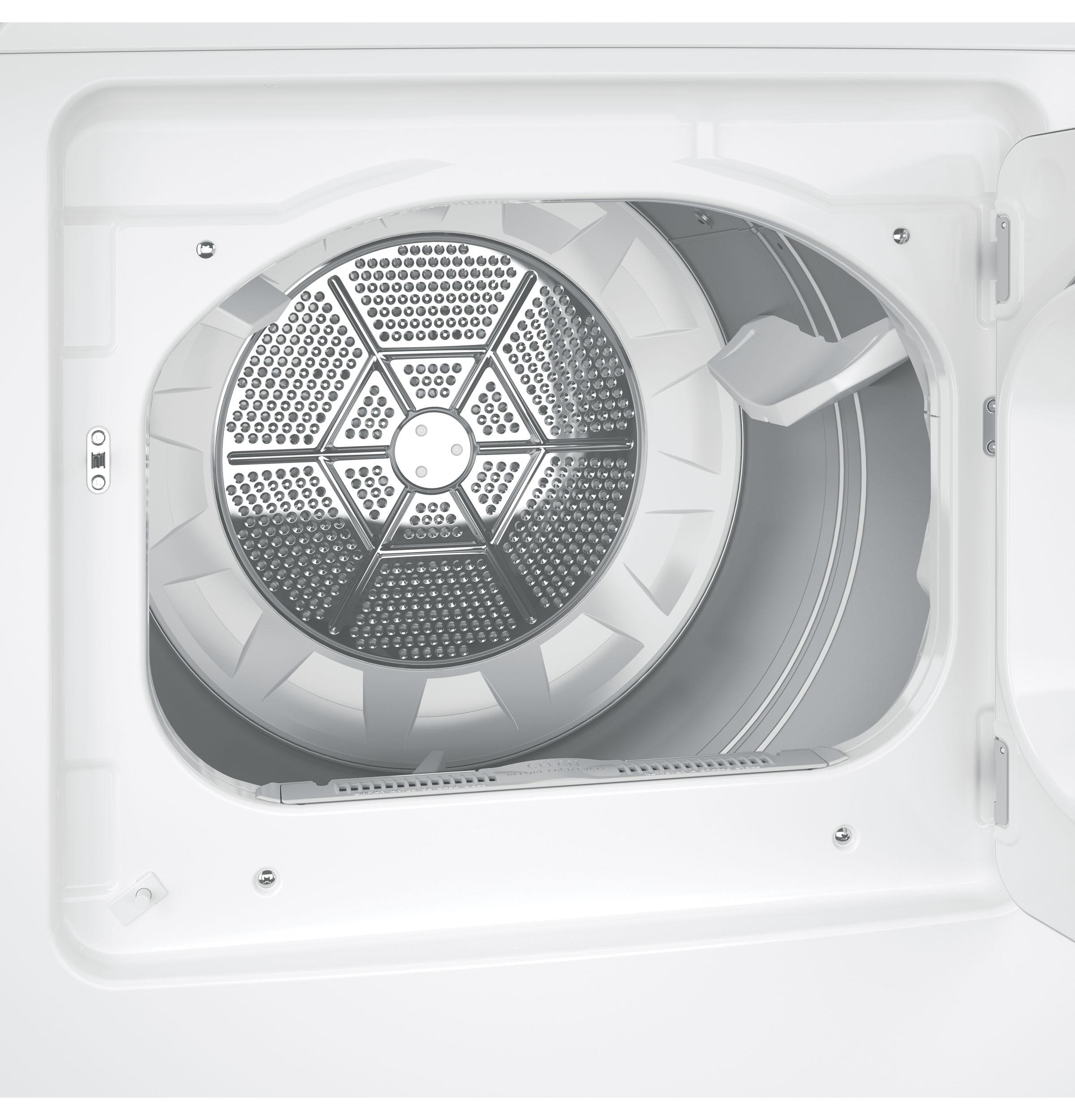 GE Appliances GTX65GBJSWS 6.1 cu. ft. Aluminized Alloy Drum Gas Dryer w/ HE Sensor Dry - White
