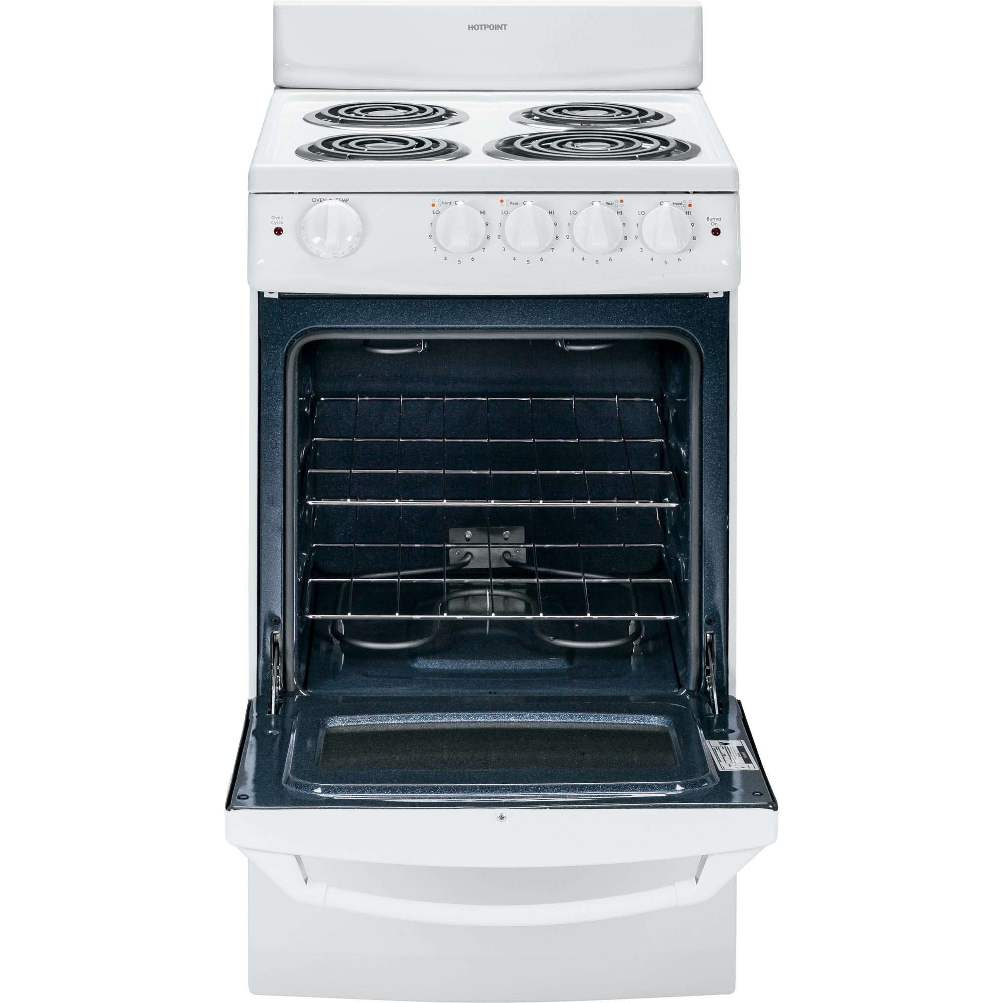 "Hotpoint RA720KWH 2.4 cu. ft. 20"" Electric Range"