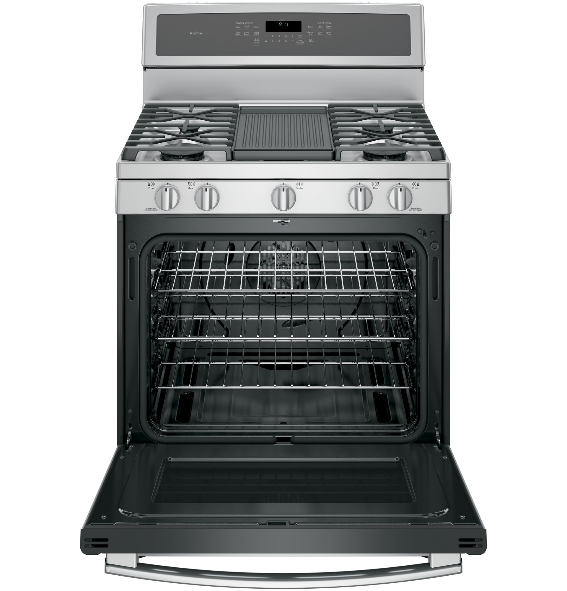 GE Profile PGB911ZEJSS 5.6 cu .ft. Freestanding Gas Convection Range - Stainless Steel