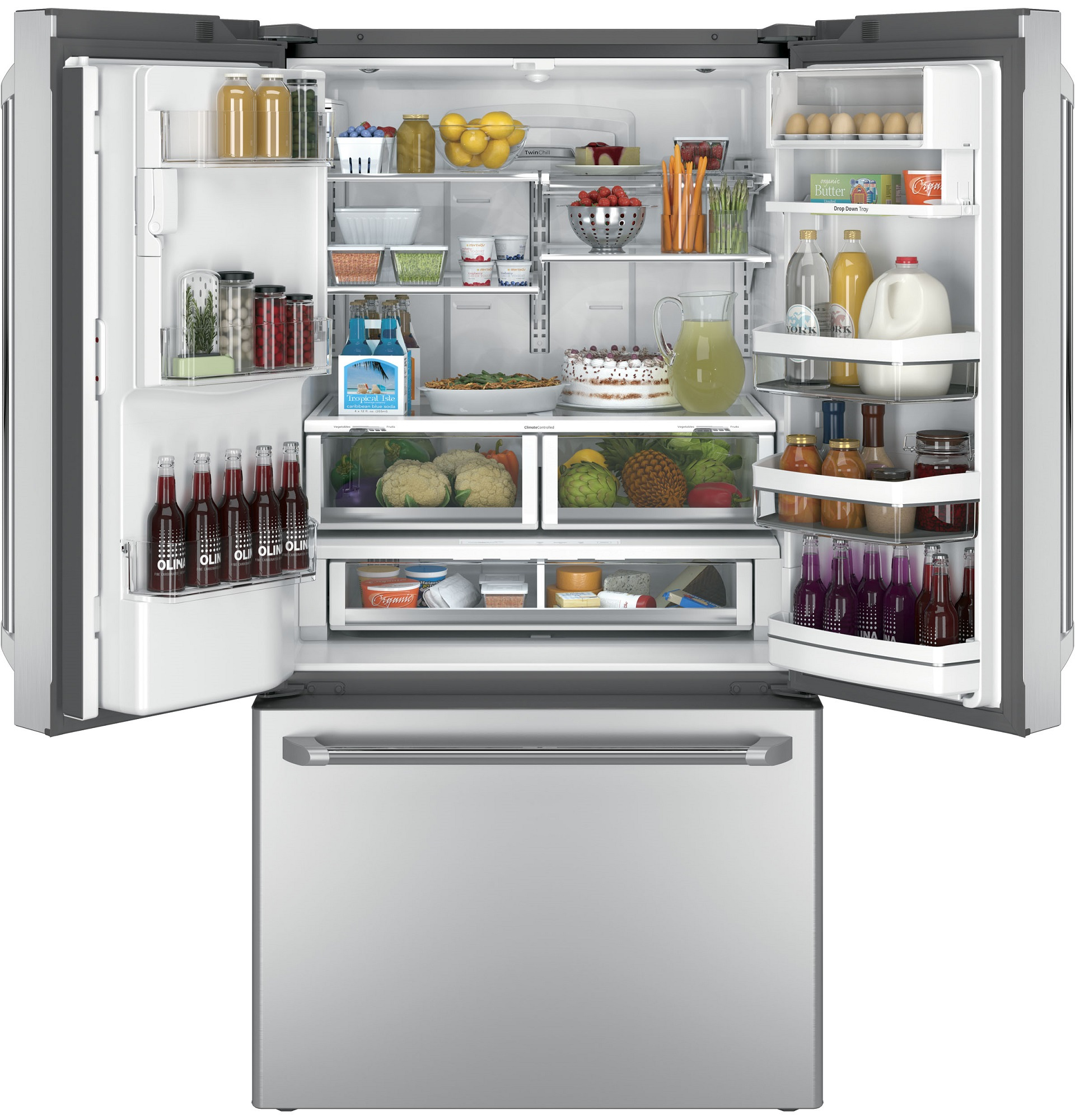 GE Cafe™ Series CFE28USHSS 27.8 cu. ft. French-Door Refrigerator - Stainless Steel