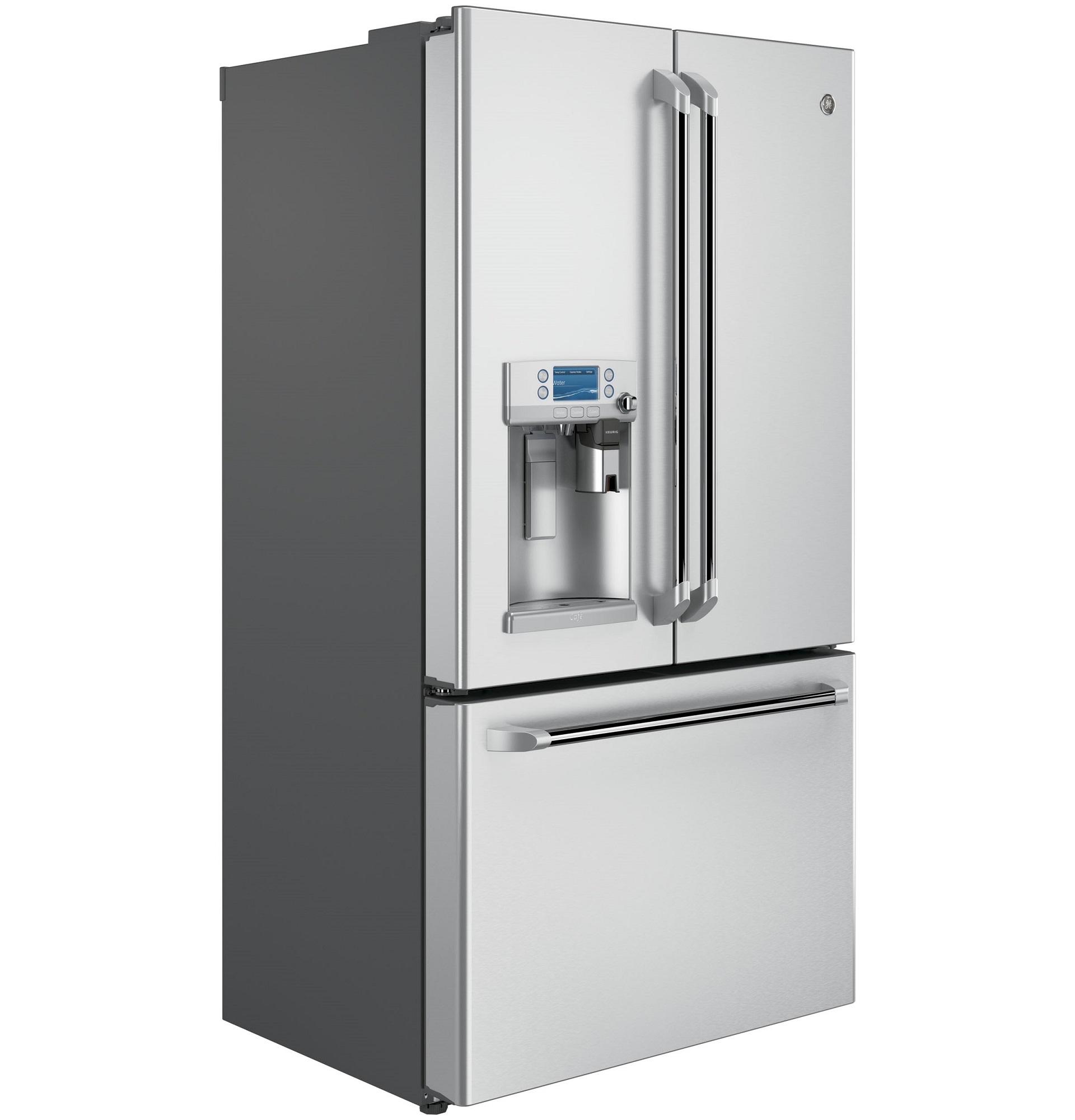 GE Cafe™ Series CYE22USHSS 22.2 cu. ft. Counter-Depth French-Door Refrigerator - Stainless Steel