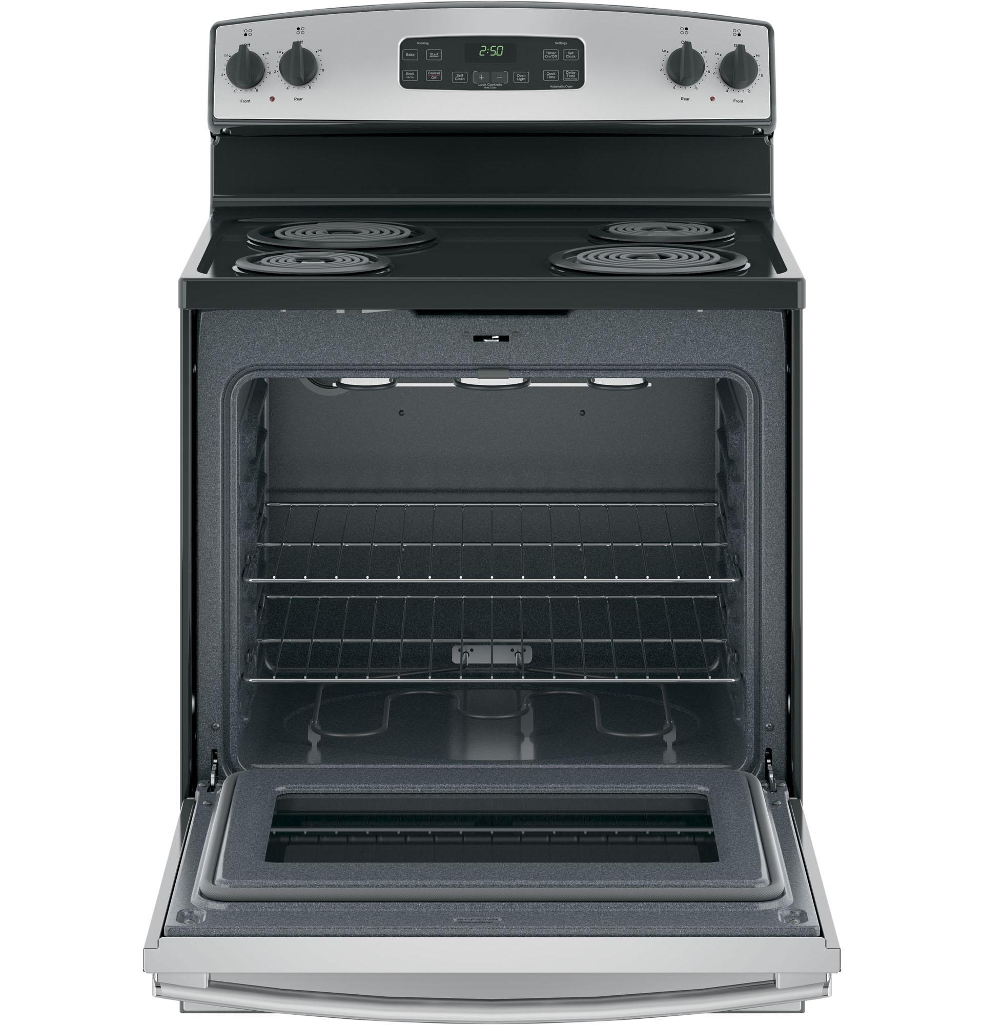 "GE Appliances JB250RKSS 30"" Freestanding Electric Range - Stainless Steel"
