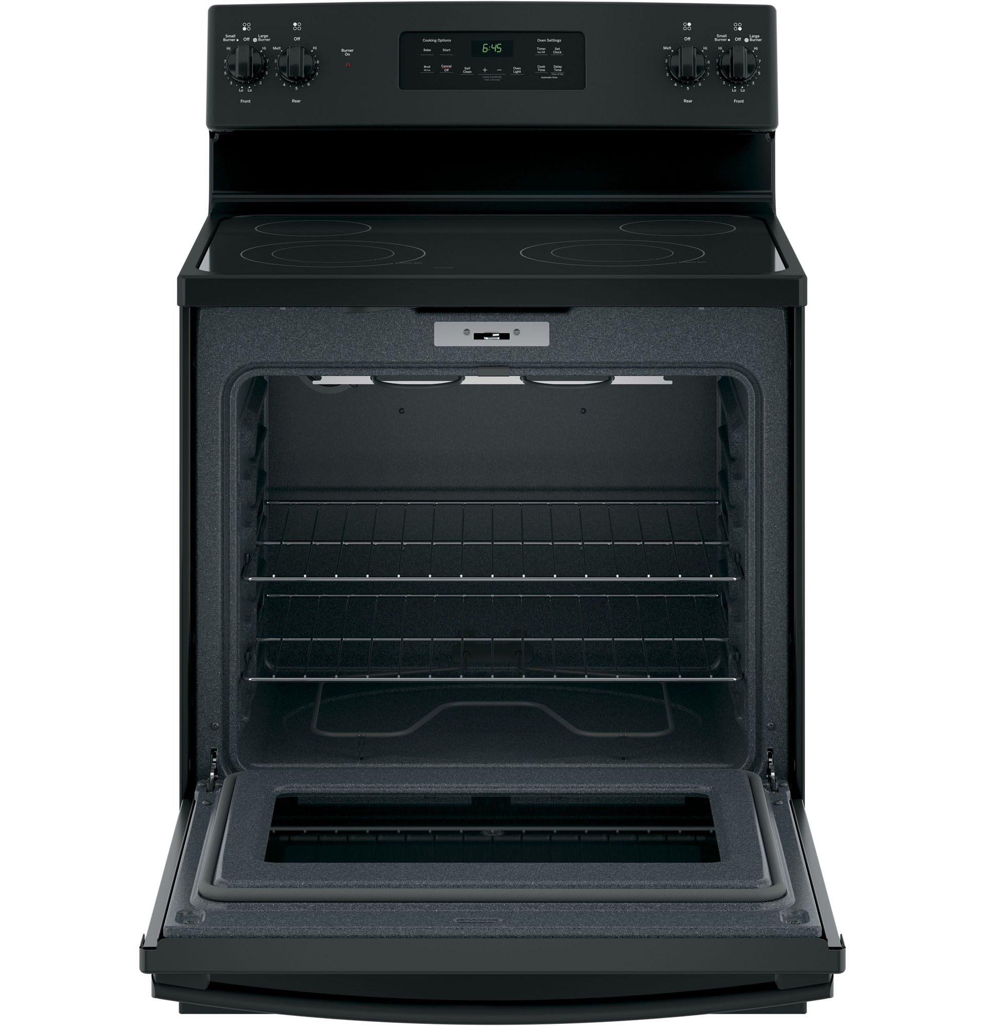 "GE Appliances JB645DKBB 30"" Freestanding Electric Range - Black"