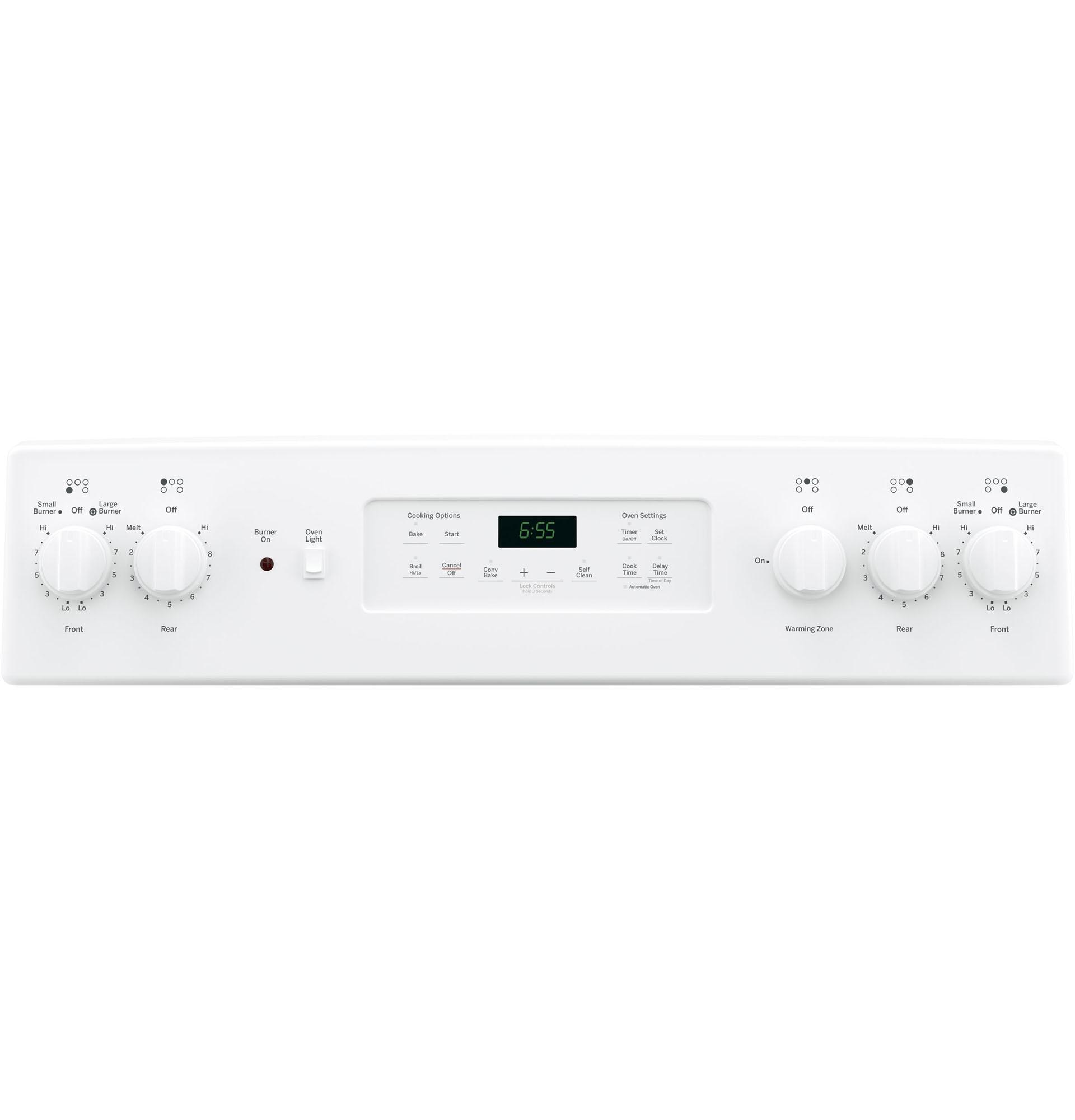 "GE Appliances JB655DKWW 30"" Freestanding Electric Range - White"