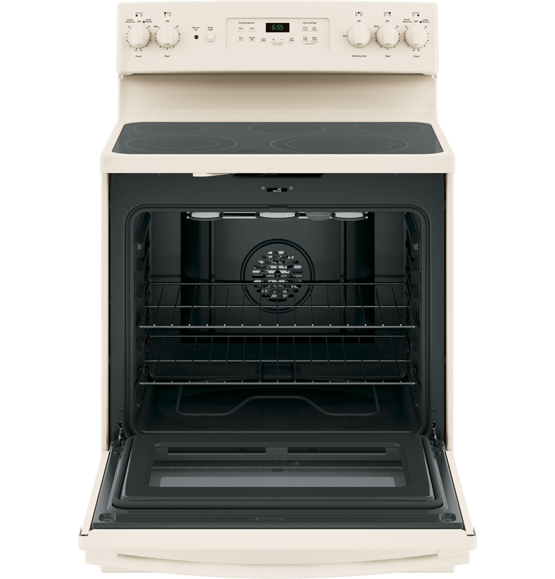"""GE Appliances JB655DKCC 30"""" Freestanding Electric Range w/ Convection - Bisque"""