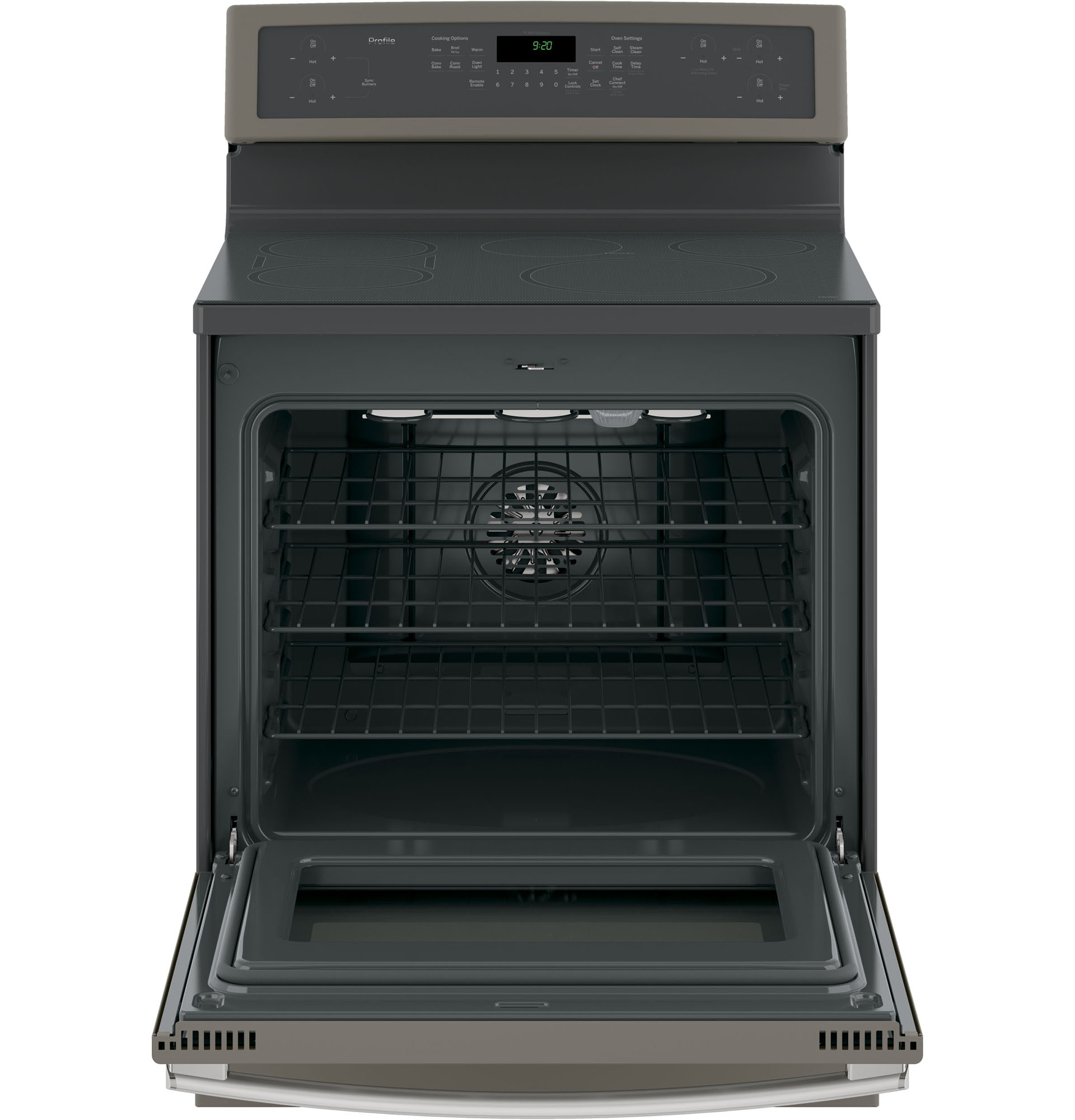 """GE Profile™ Series PHB920EJES 30""""  Electric Freestanding Range w/ Induction Cooking - Slate"""