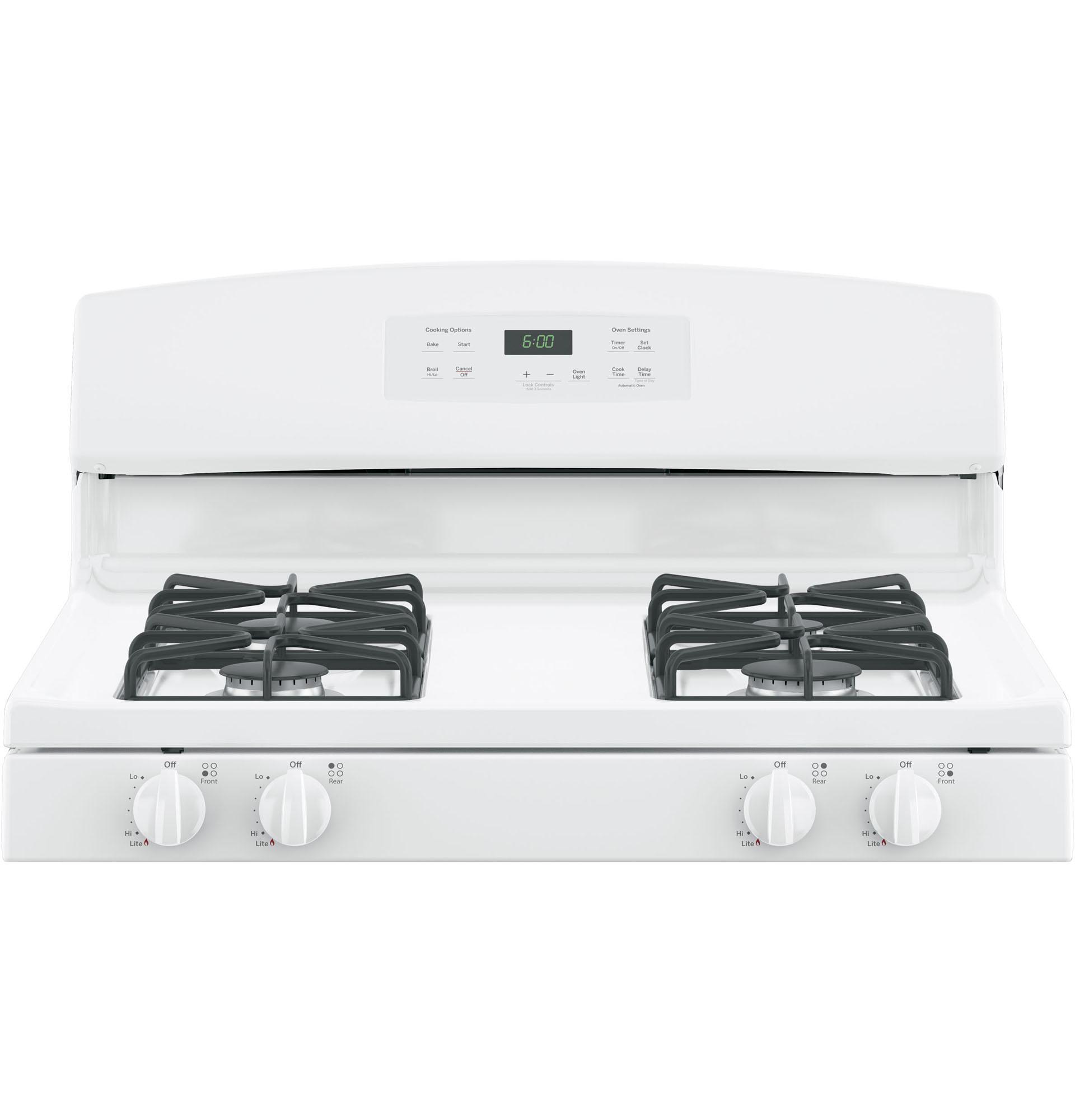 """GE Appliances JGBS60DEKWW 30"""" Freestanding Gas Range - White"""