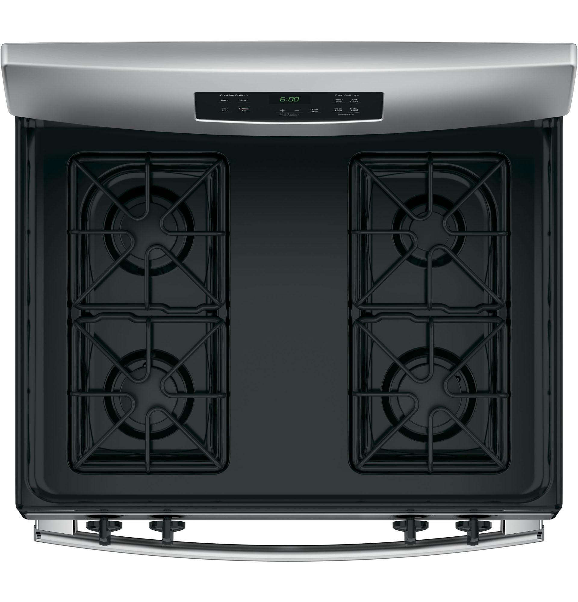 "GE Appliances JGBS60REKSS 30"" Freestanding Gas Range - Stainless Steel"