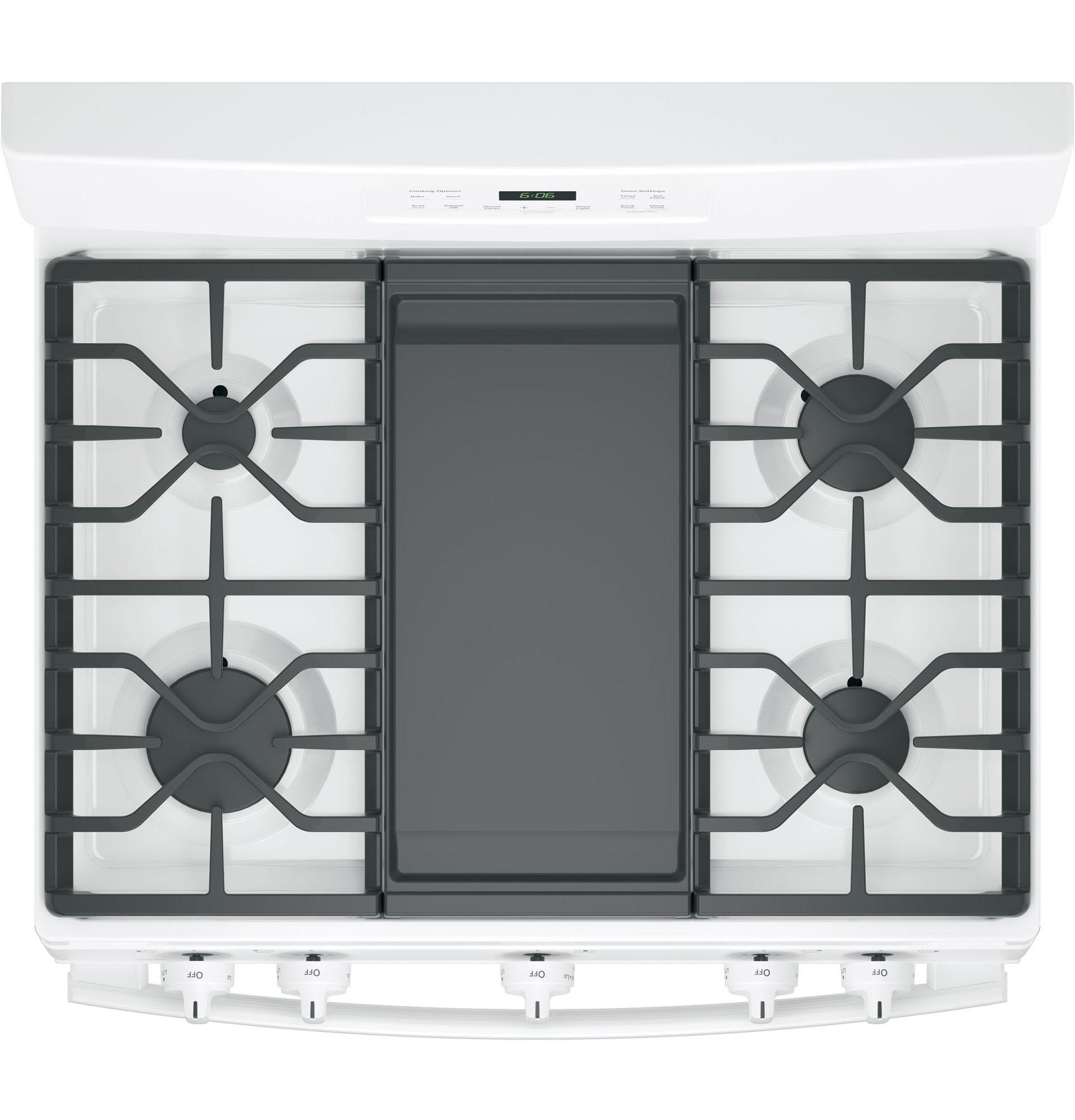 """GE Appliances JGBS66DEKWW 30"""" Freestanding Gas Range - White"""