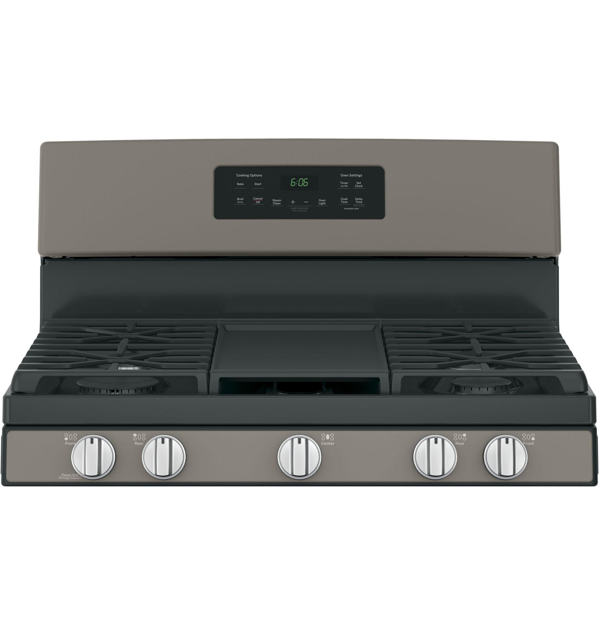 "GE Appliances JGBS66EEKES 30"" Freestanding Gas Range - Slate"