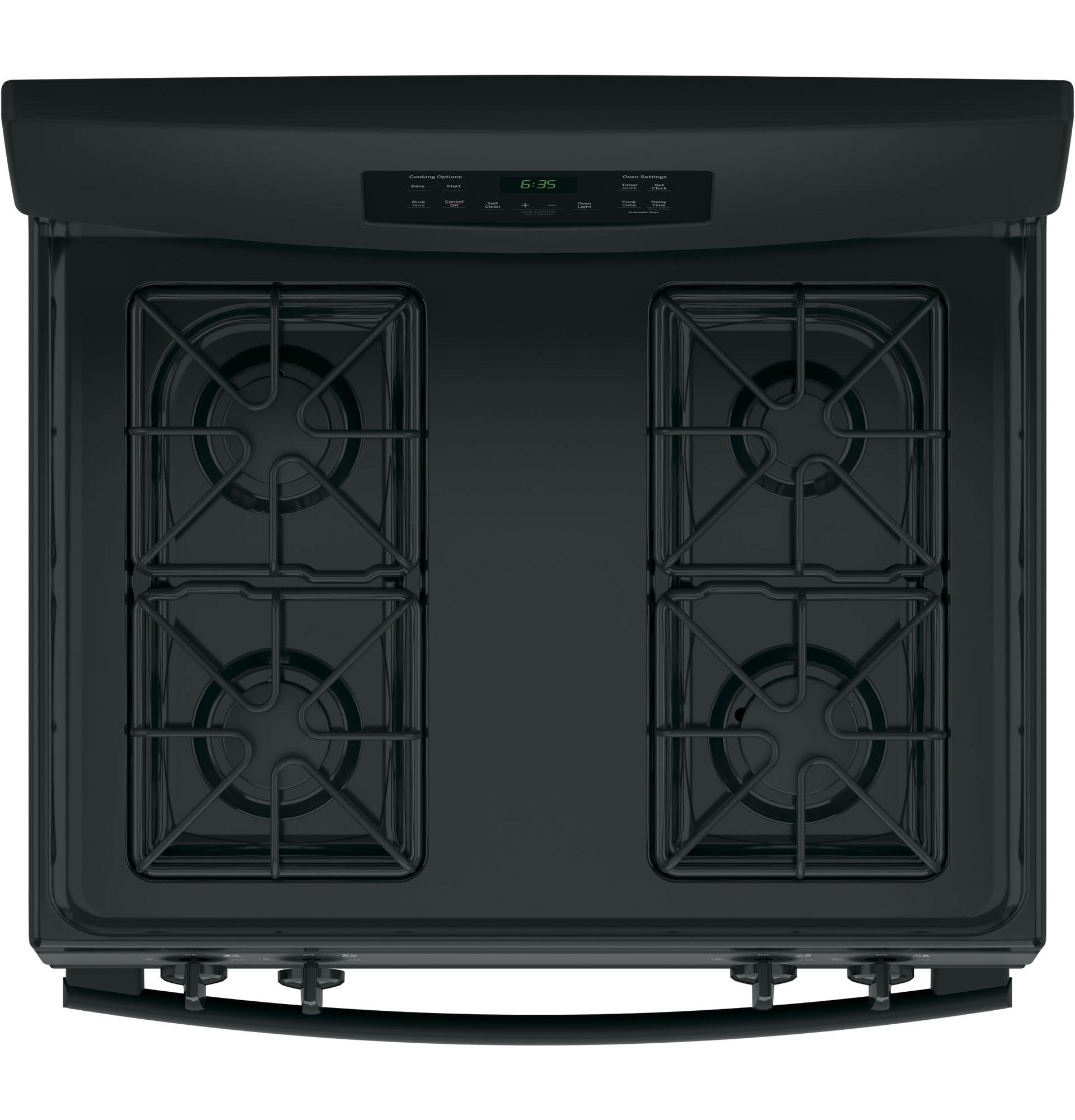 "GE Appliances JGB635DEKBB 30"" Freestanding Gas Range - Black"