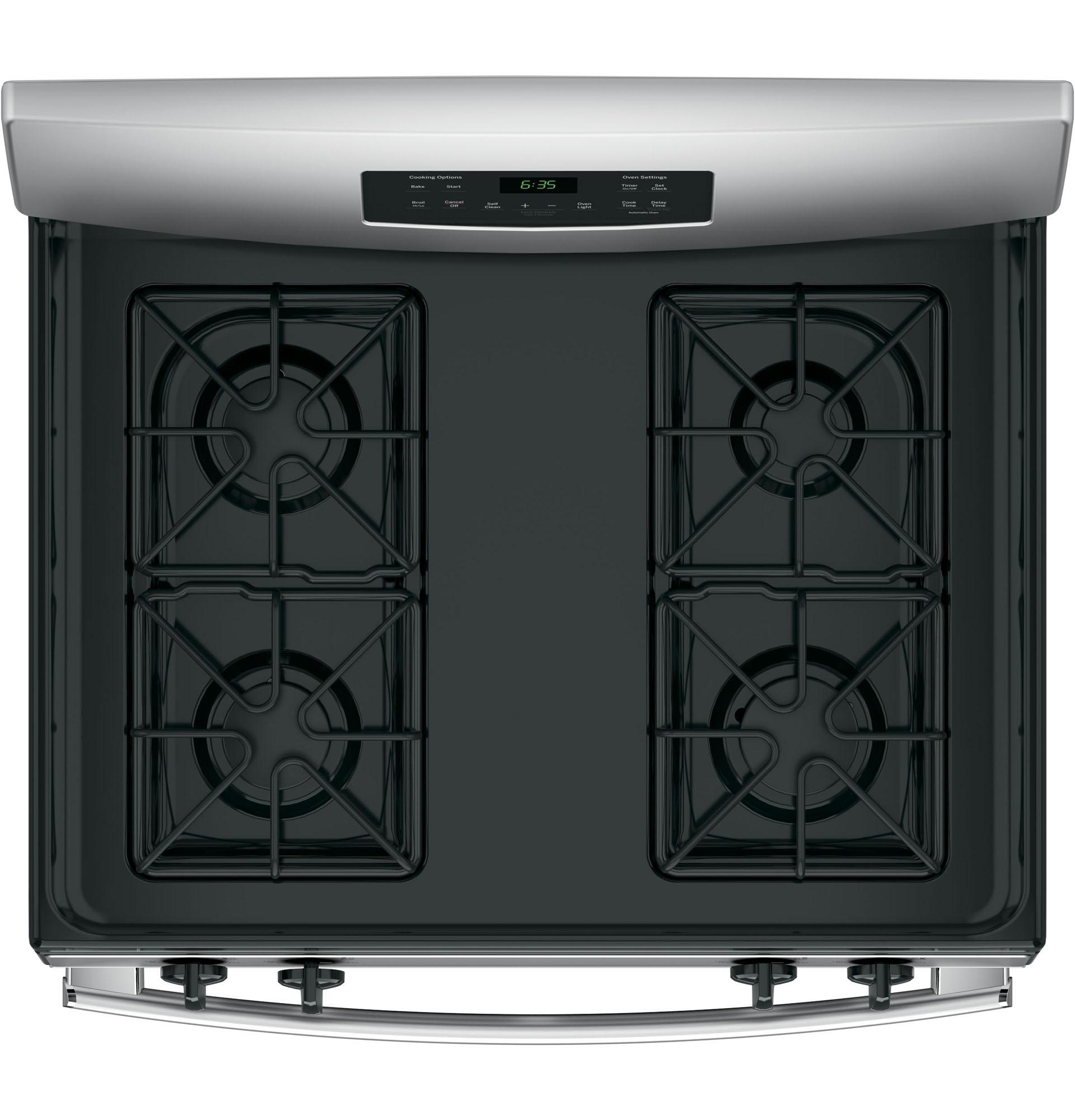 "GE Appliances JGB635REKSS 30"" Freestanding Gas Range - Stainless Steel"