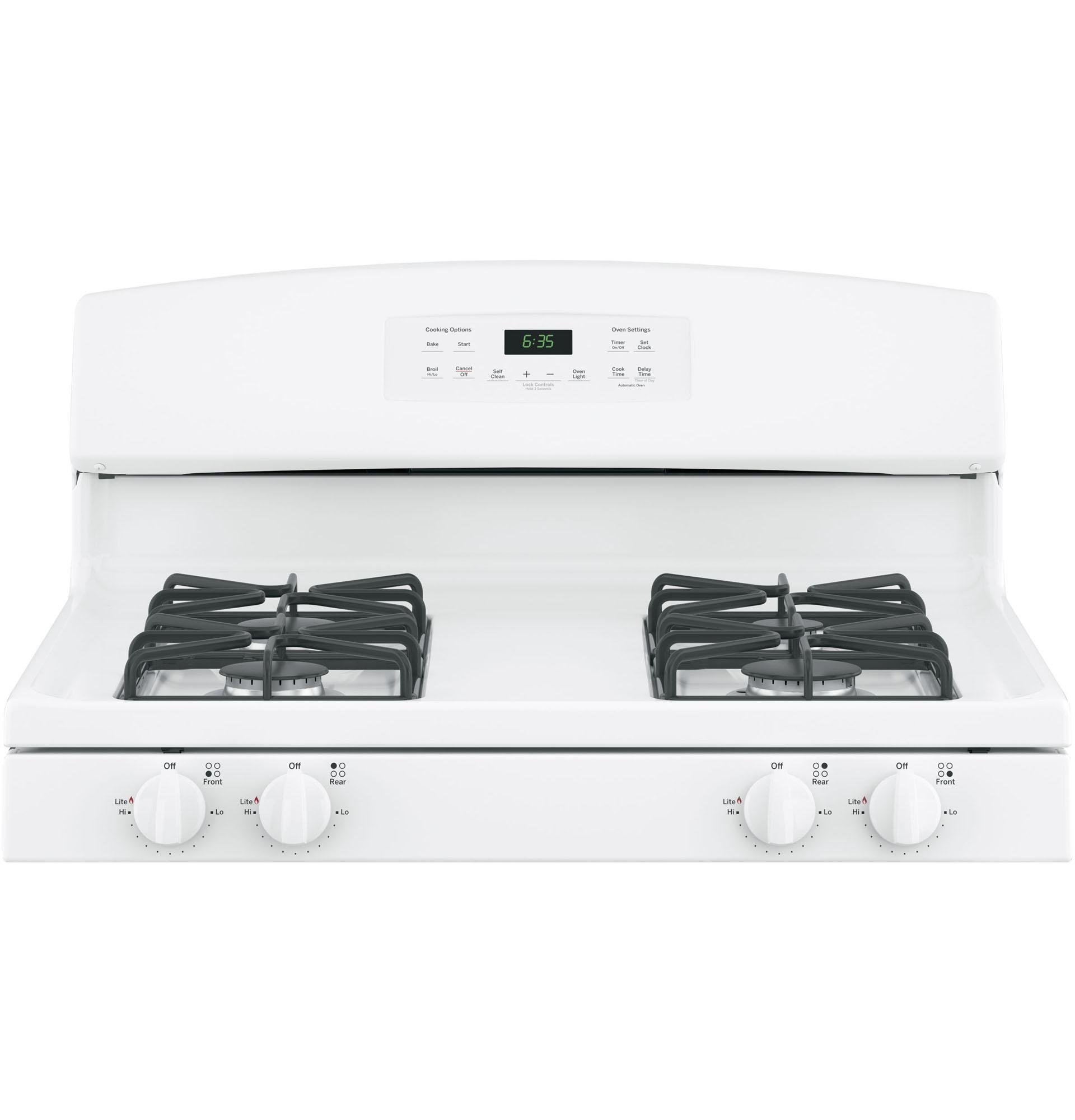 "GE Appliances JGB635DEKWW 30"" Freestanding Gas Range - White"