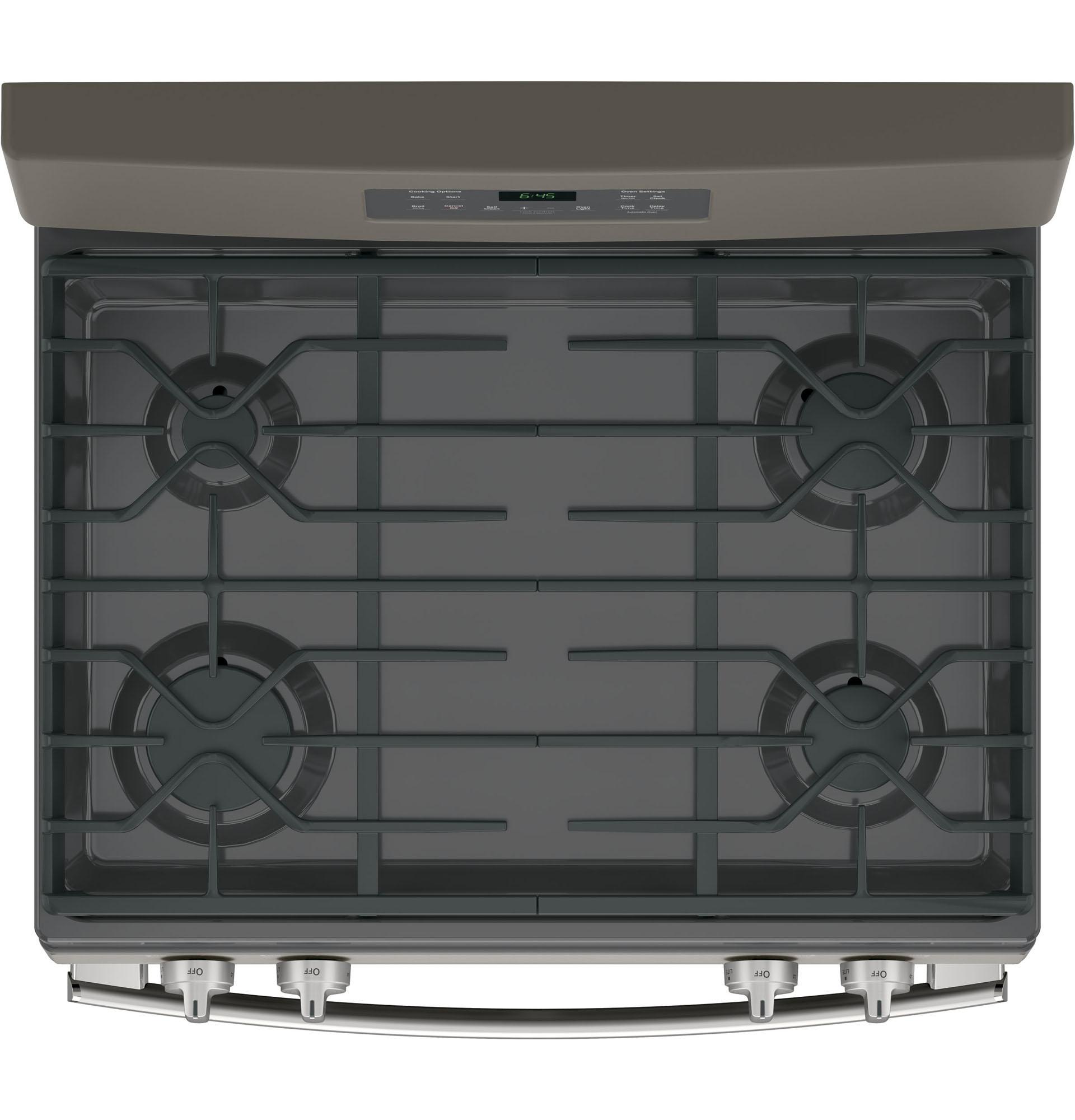 "GE Appliances JGB645EEKES 30"" Freestanding Gas Range - Slate"